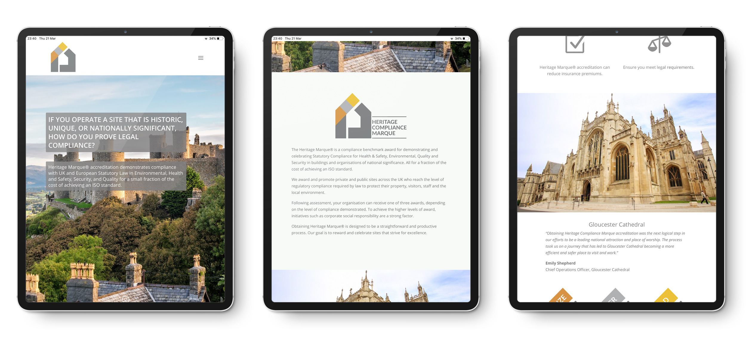 Tablet Website Design Example