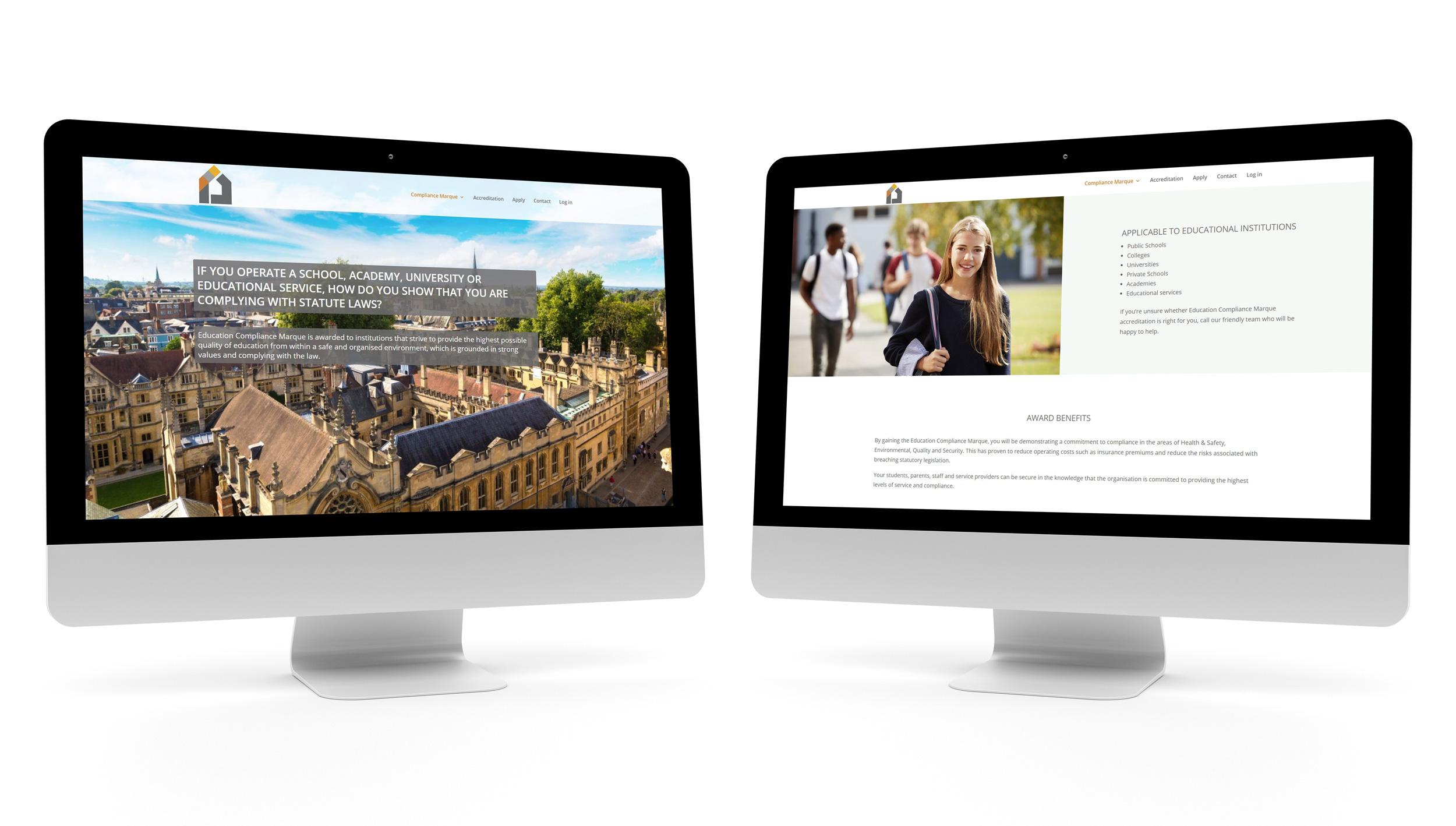 Desktop Website Design example by CAPEX Marketing 1
