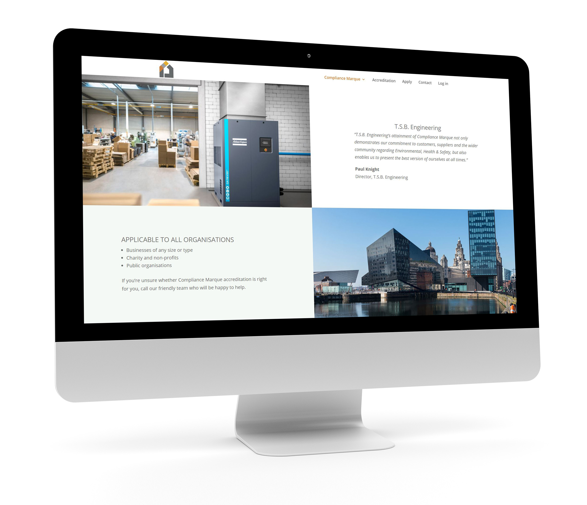 Desktop Website Design example by CAPEX Marketing 2