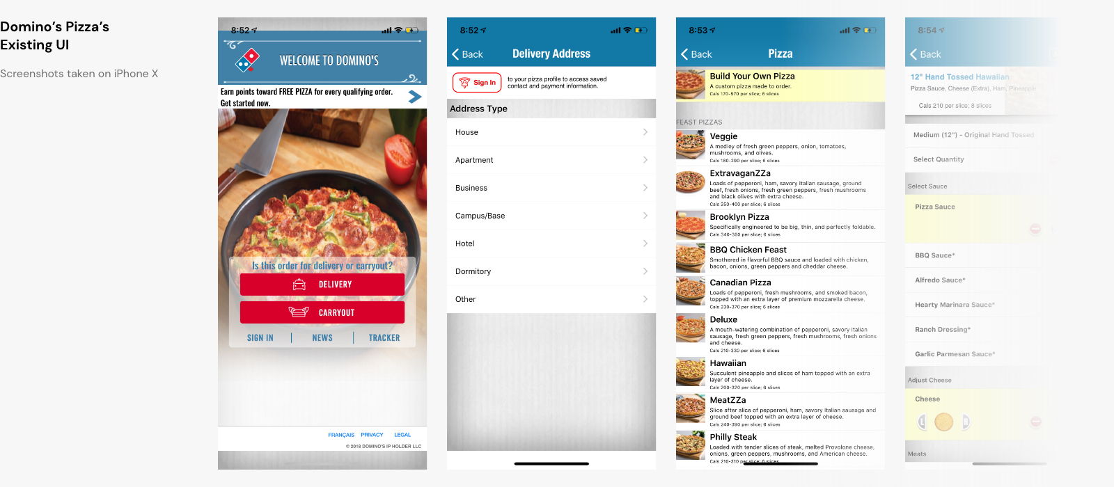 Domino's Pizza Mobile App Design - Simon Shen Design