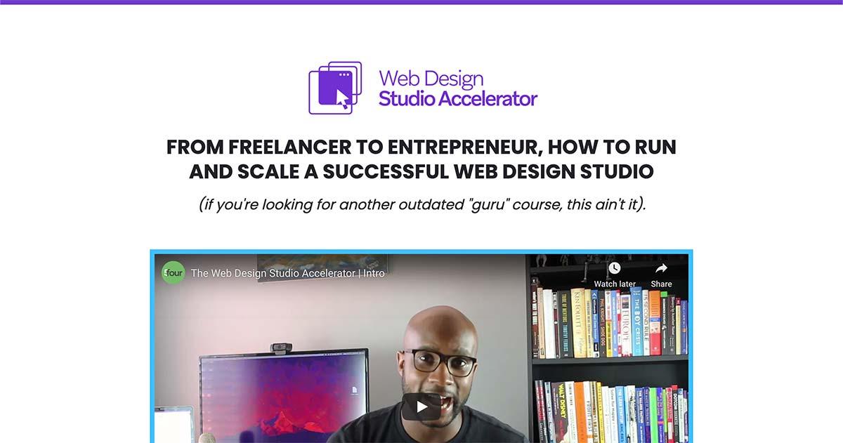 John Saunders Web Design Studio Accelerator