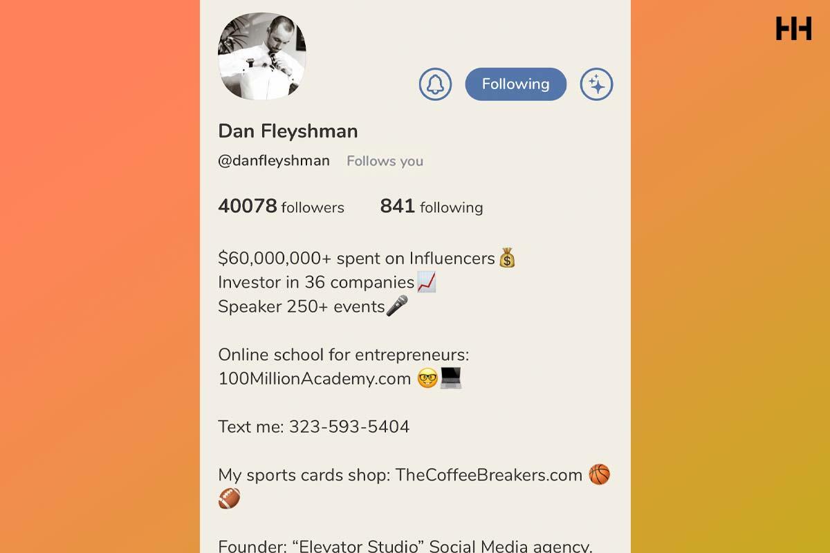 Dan Fleyshman Clubhouse App