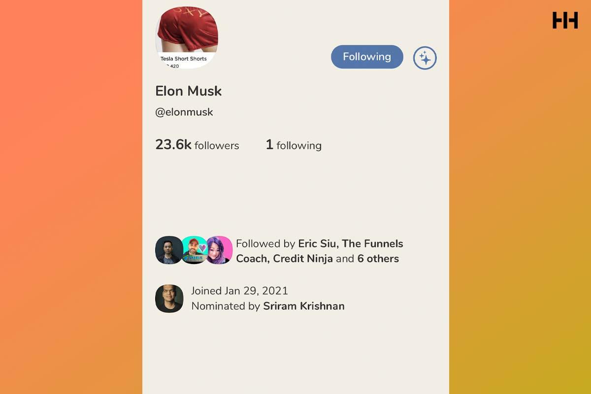 Elon Musk Clubhouse app