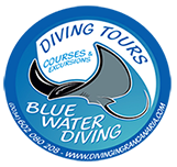 blue water diving logo