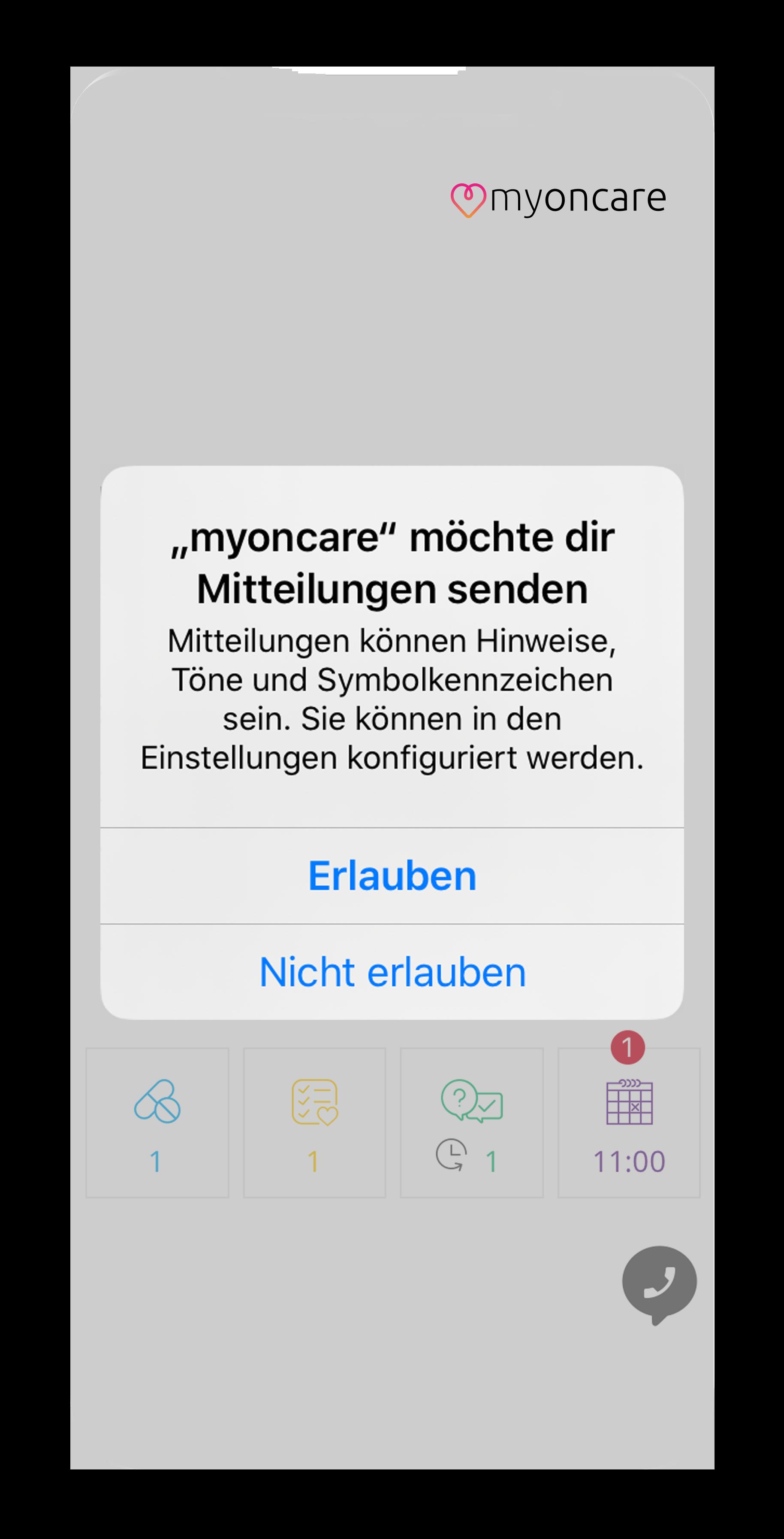 App Mitteilungen zulassen