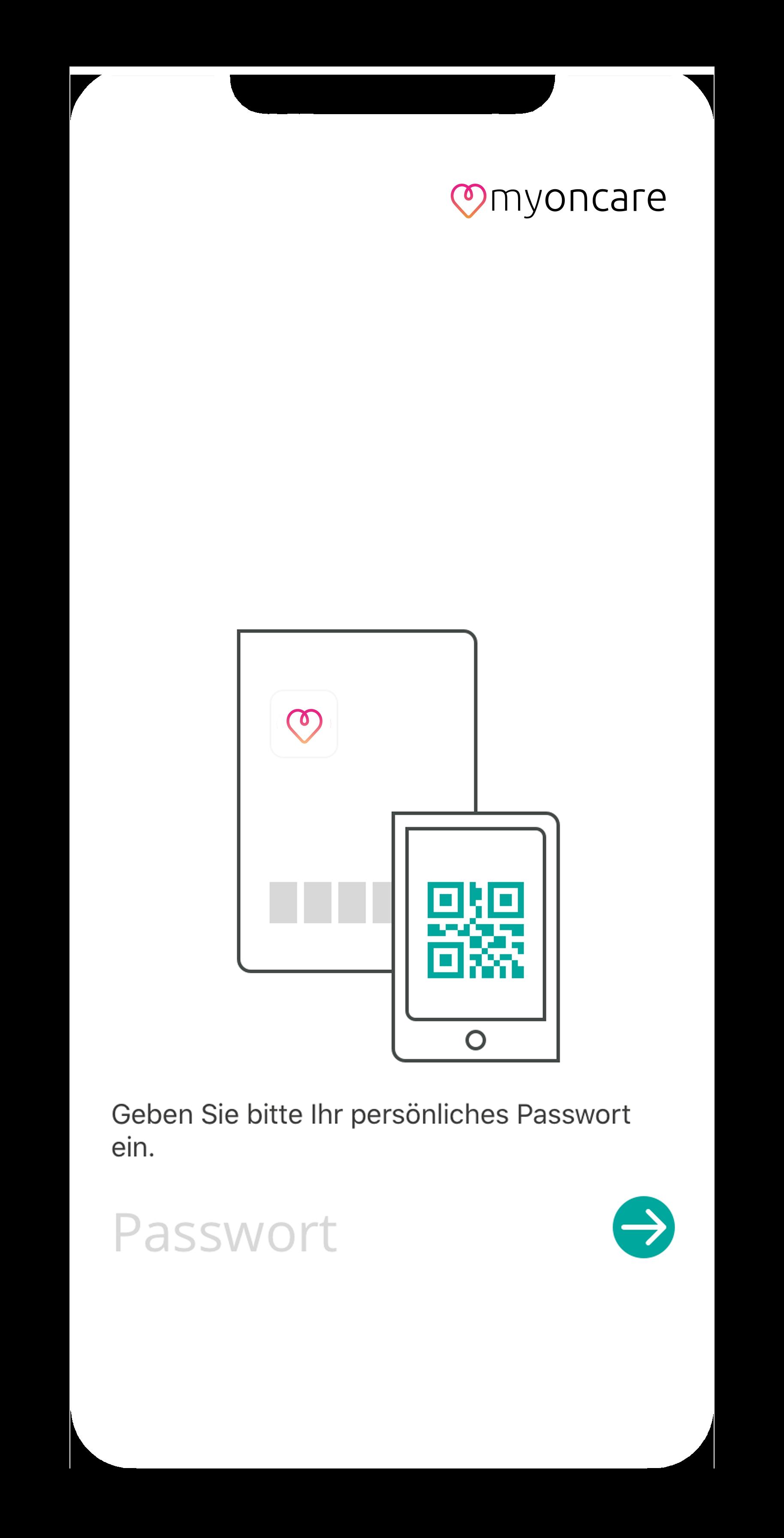 App Passwortbildschirm eingeben