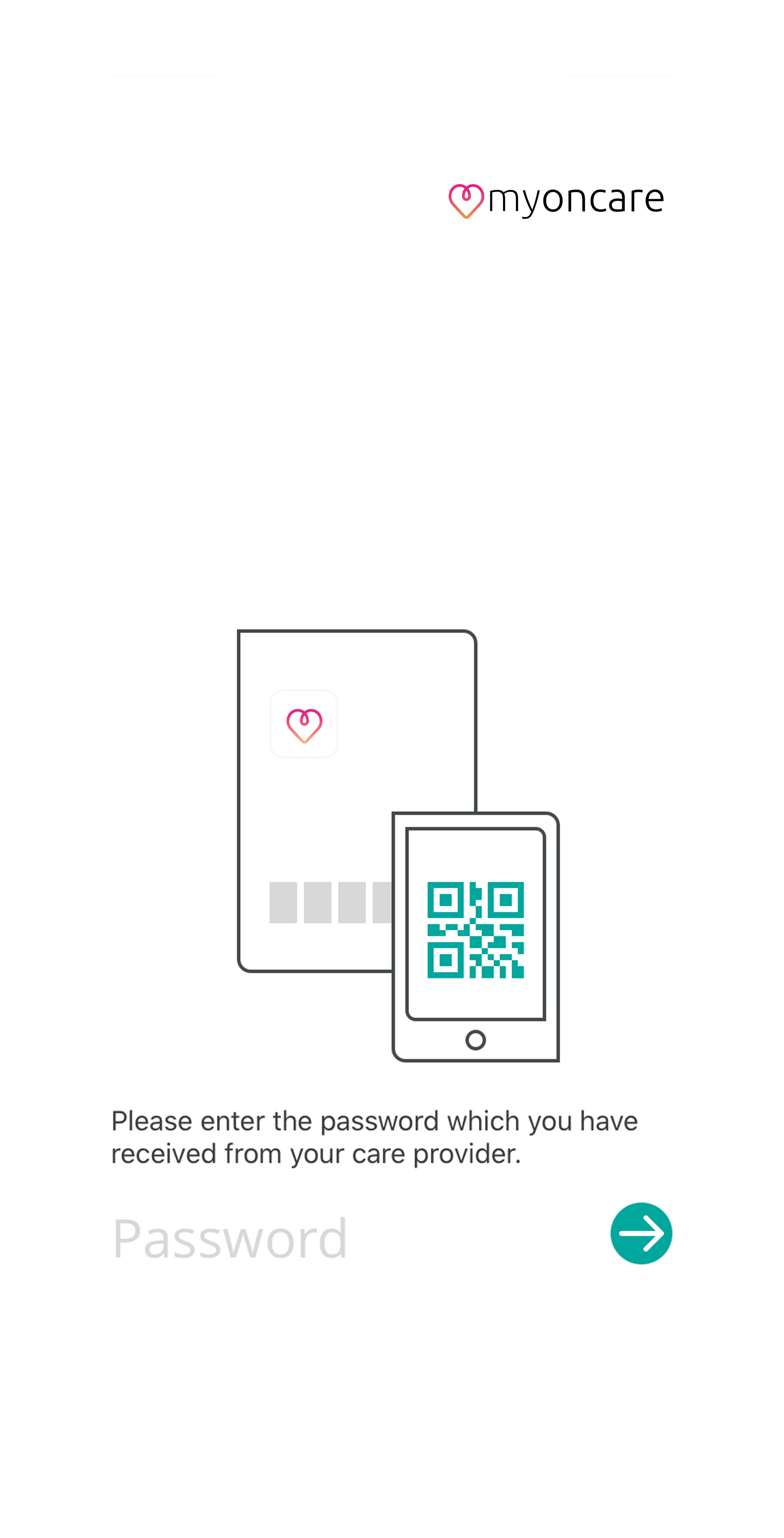 app enter password screen