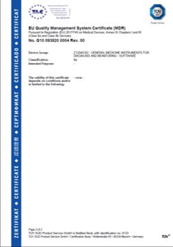 TUV certification in German