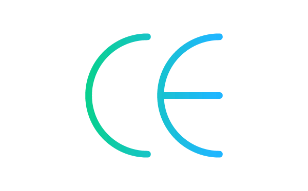 An icon showing the CE mark