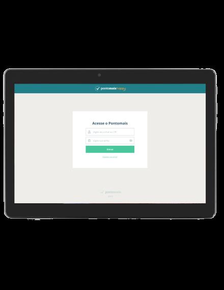 Tablet com acesso ao App