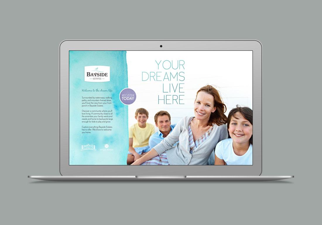 Bayside estates registration website design