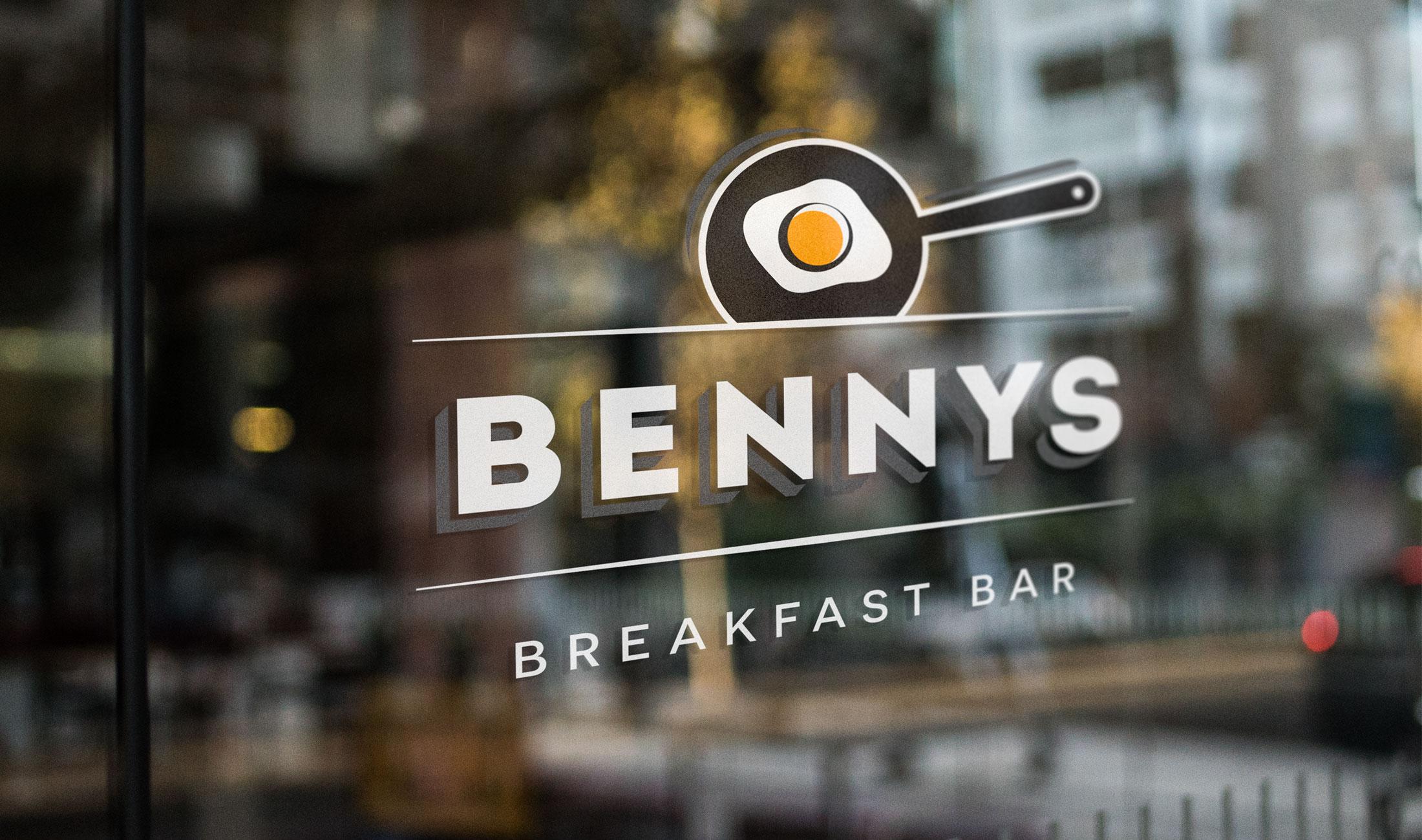 Bennys logo on a window