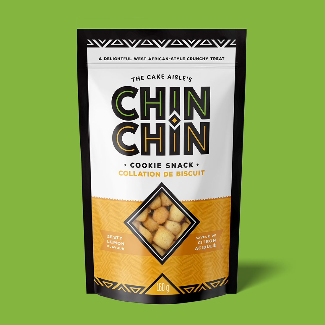 Chin Chin Lemon flavour packaging design