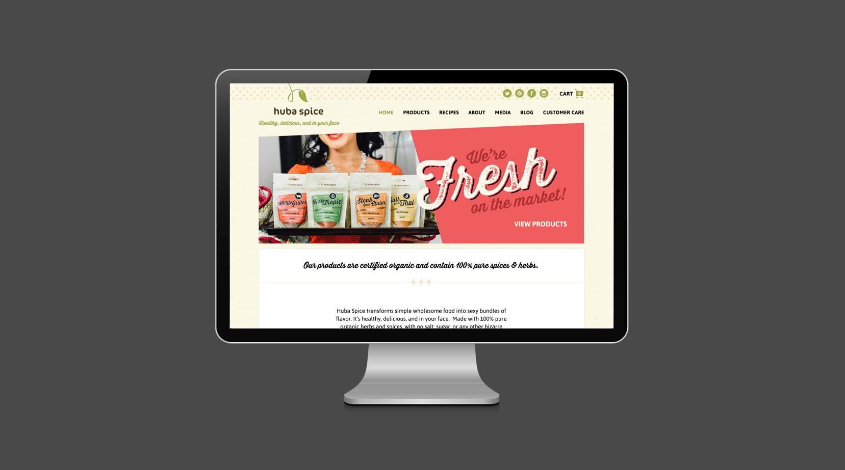 Huba Spice custom website design