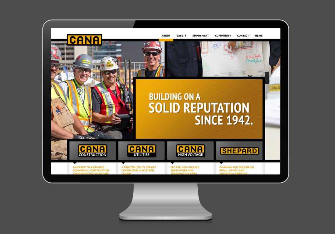 Cana Construction website design