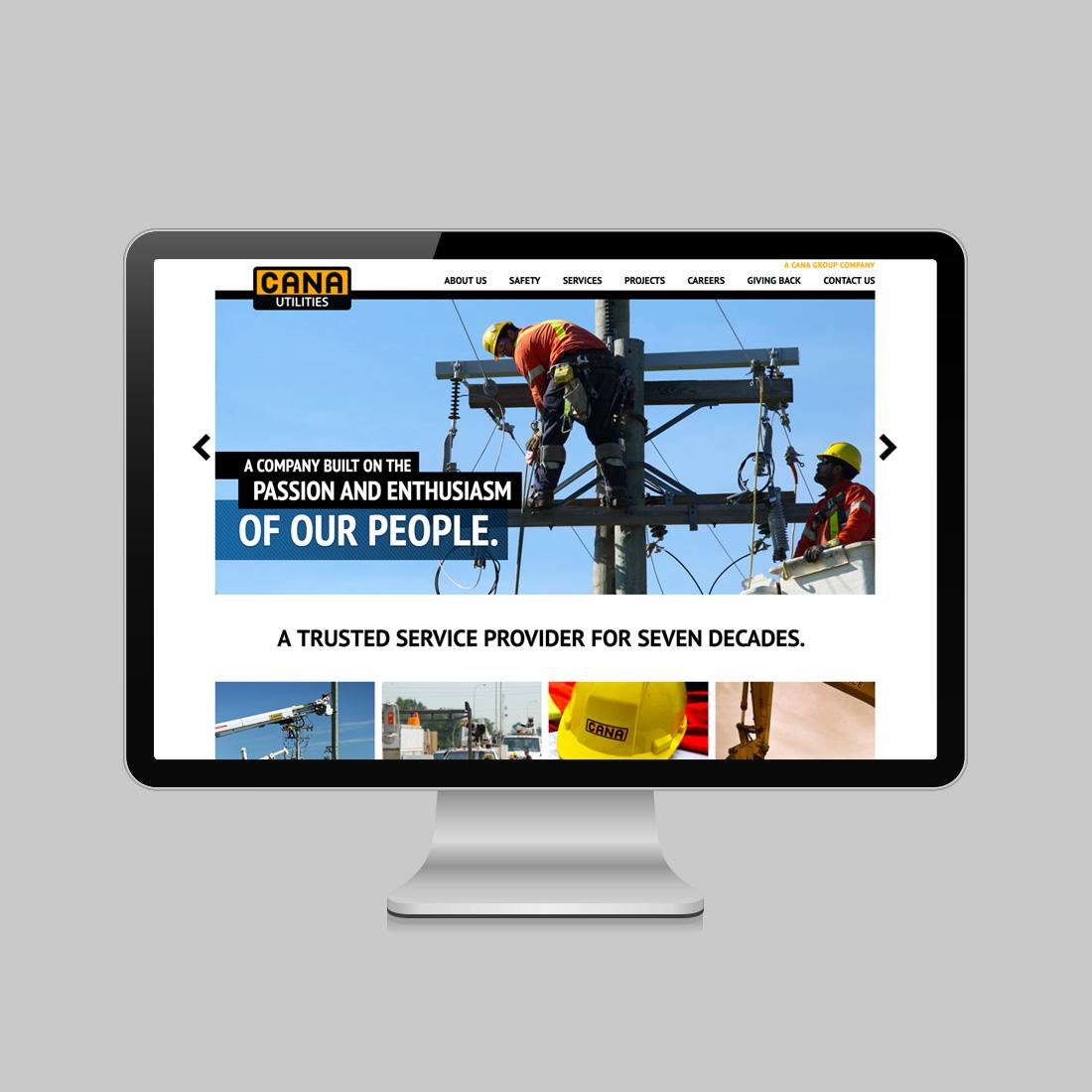 Cana Utilities homepage design