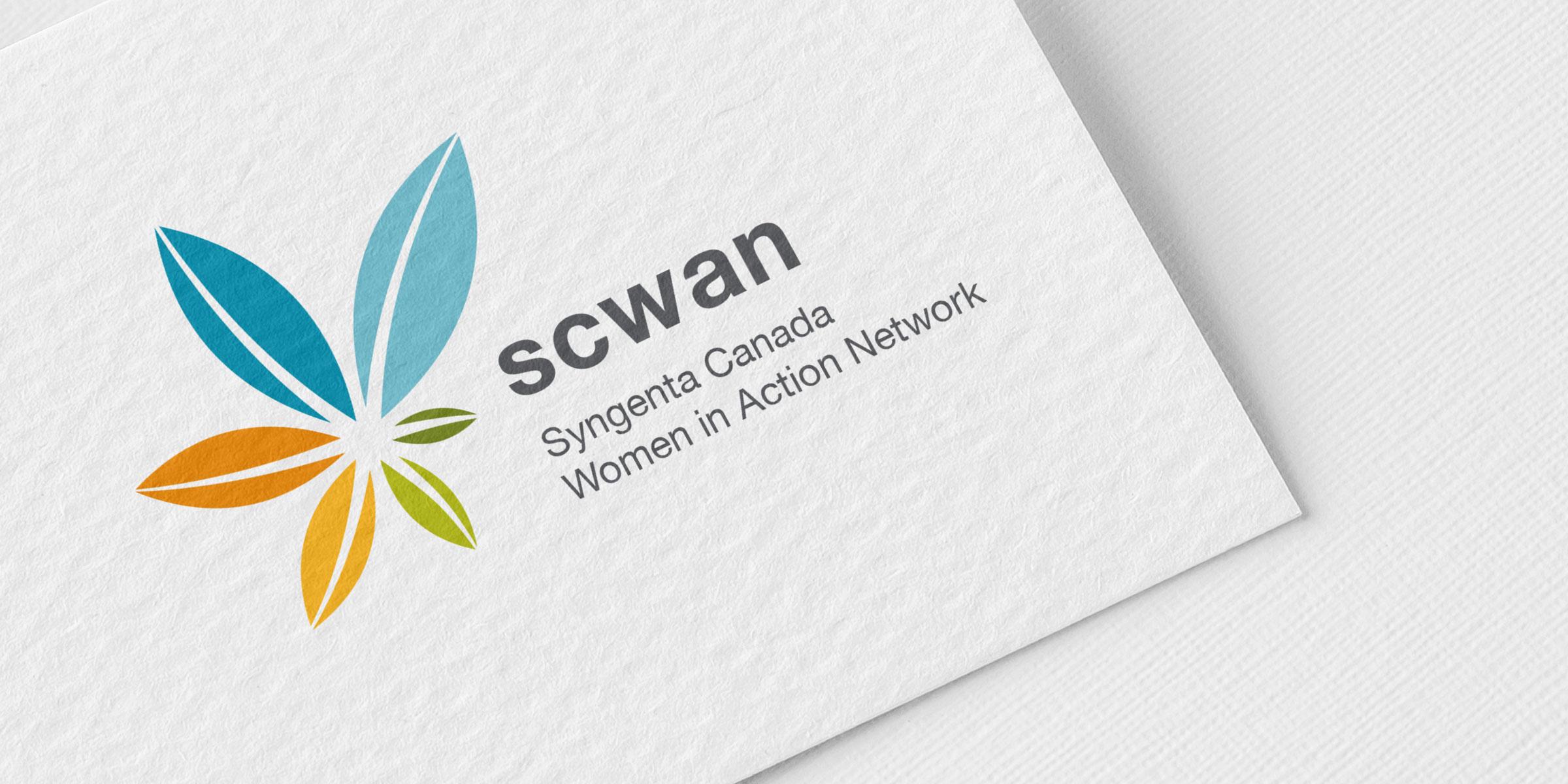 syngenta logo on business card