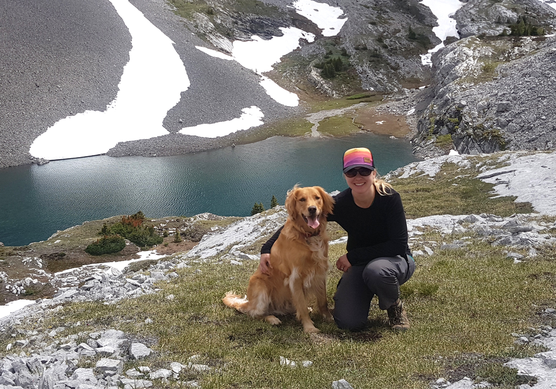 Alexandra and her dog Waylon