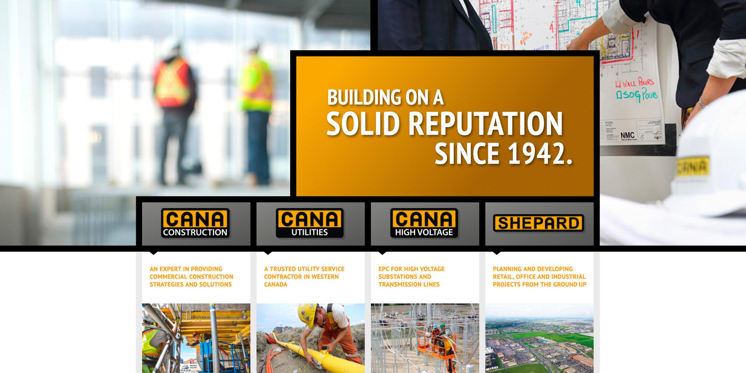 Cana homepage design