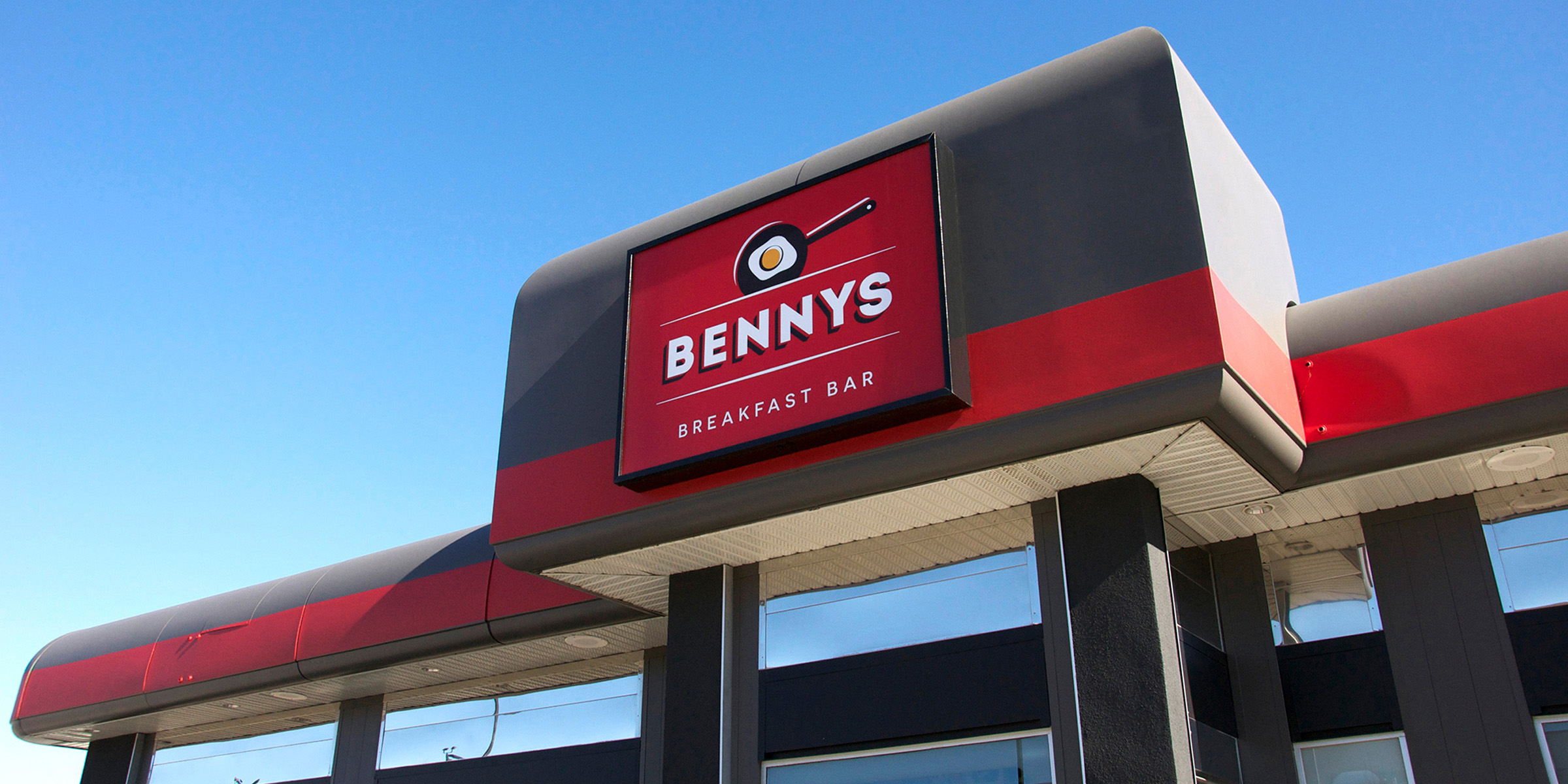 Bennys sign on exterior of the building