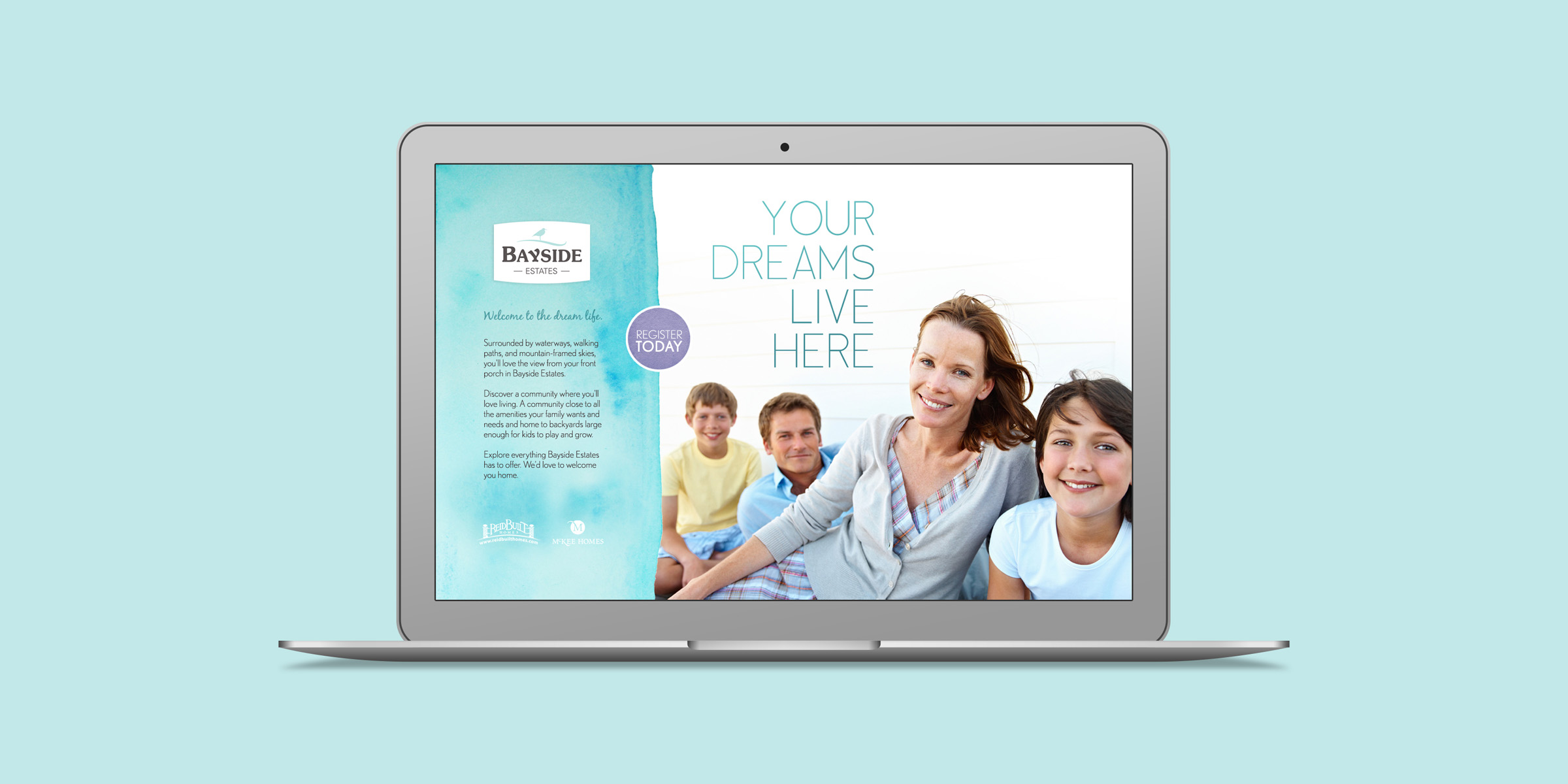 Bayside Estates website design