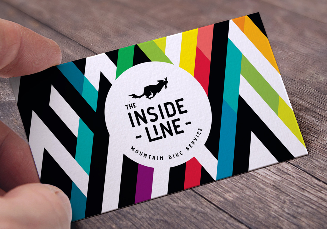 The Inside Line business card design