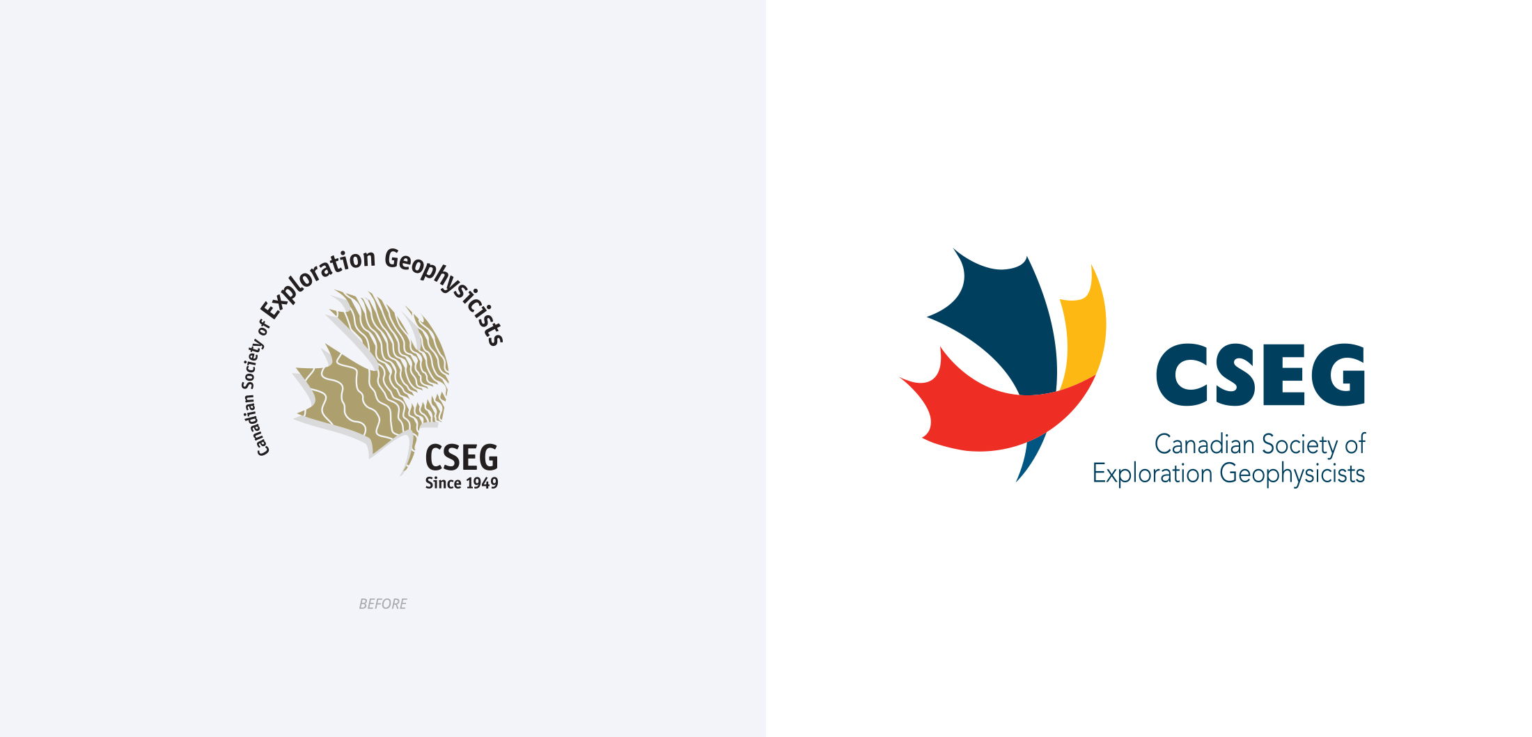 CSEG Logo before and after