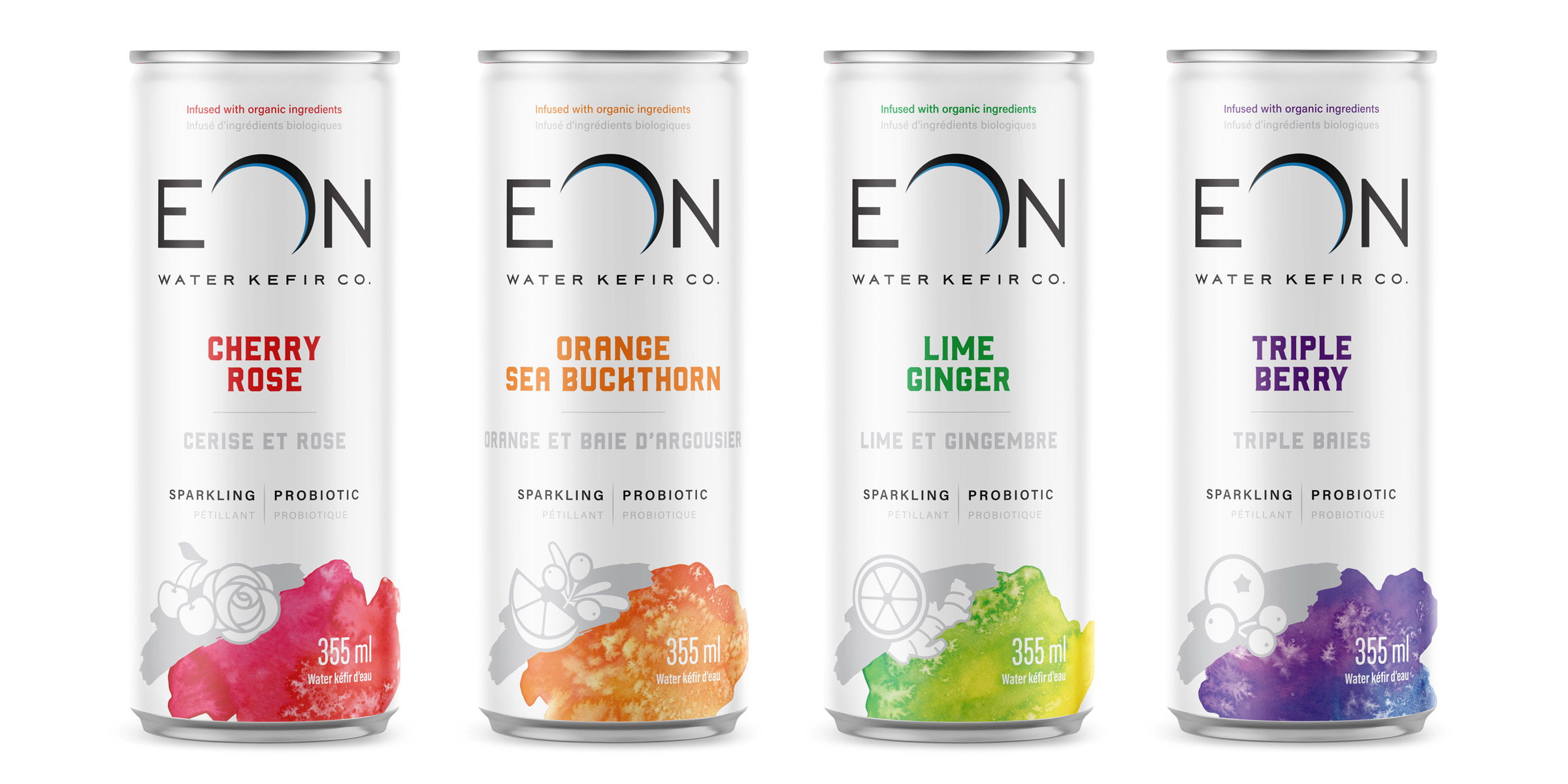 Eon water packaging design