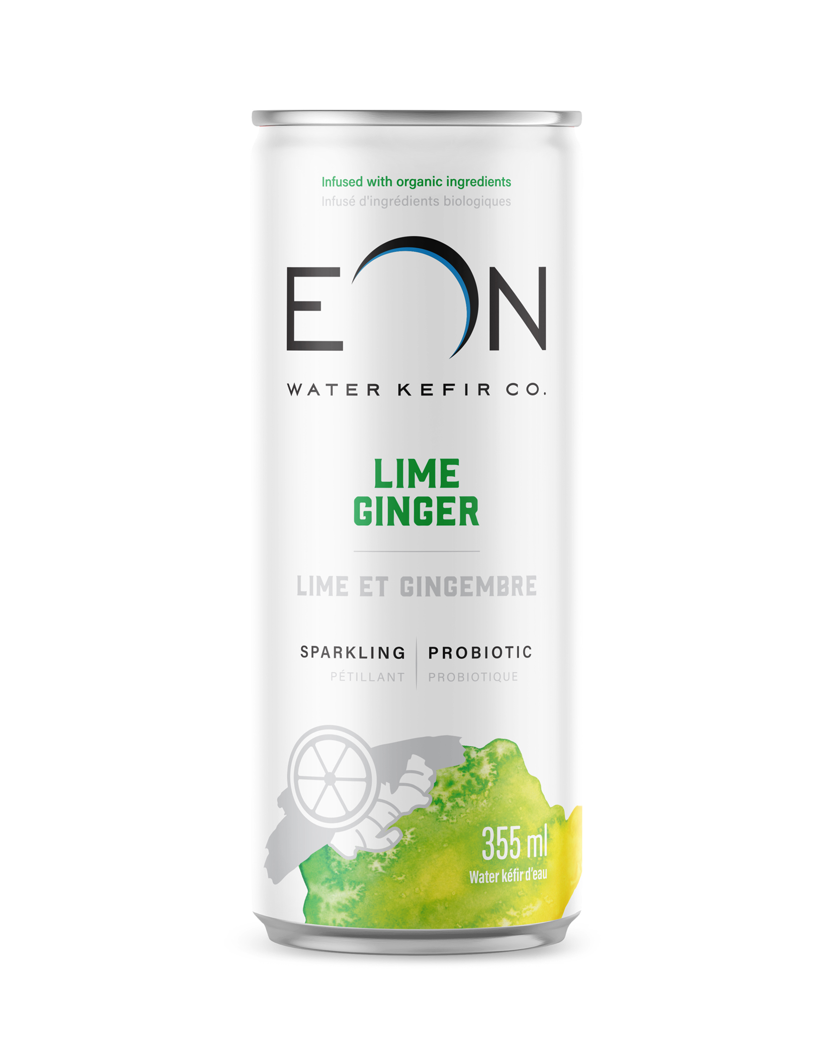 eon water lime ginger can design