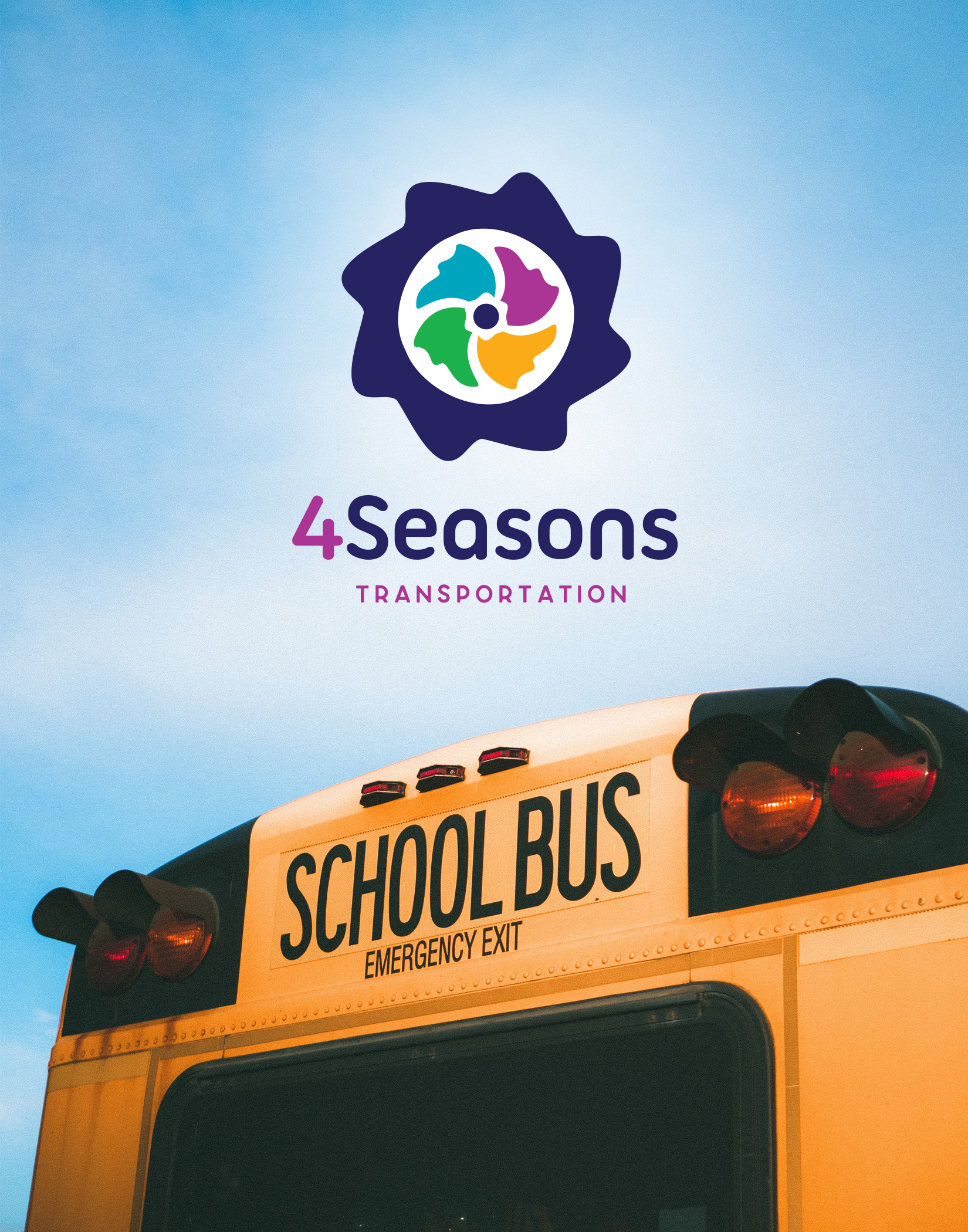 4seaons transportation logo design