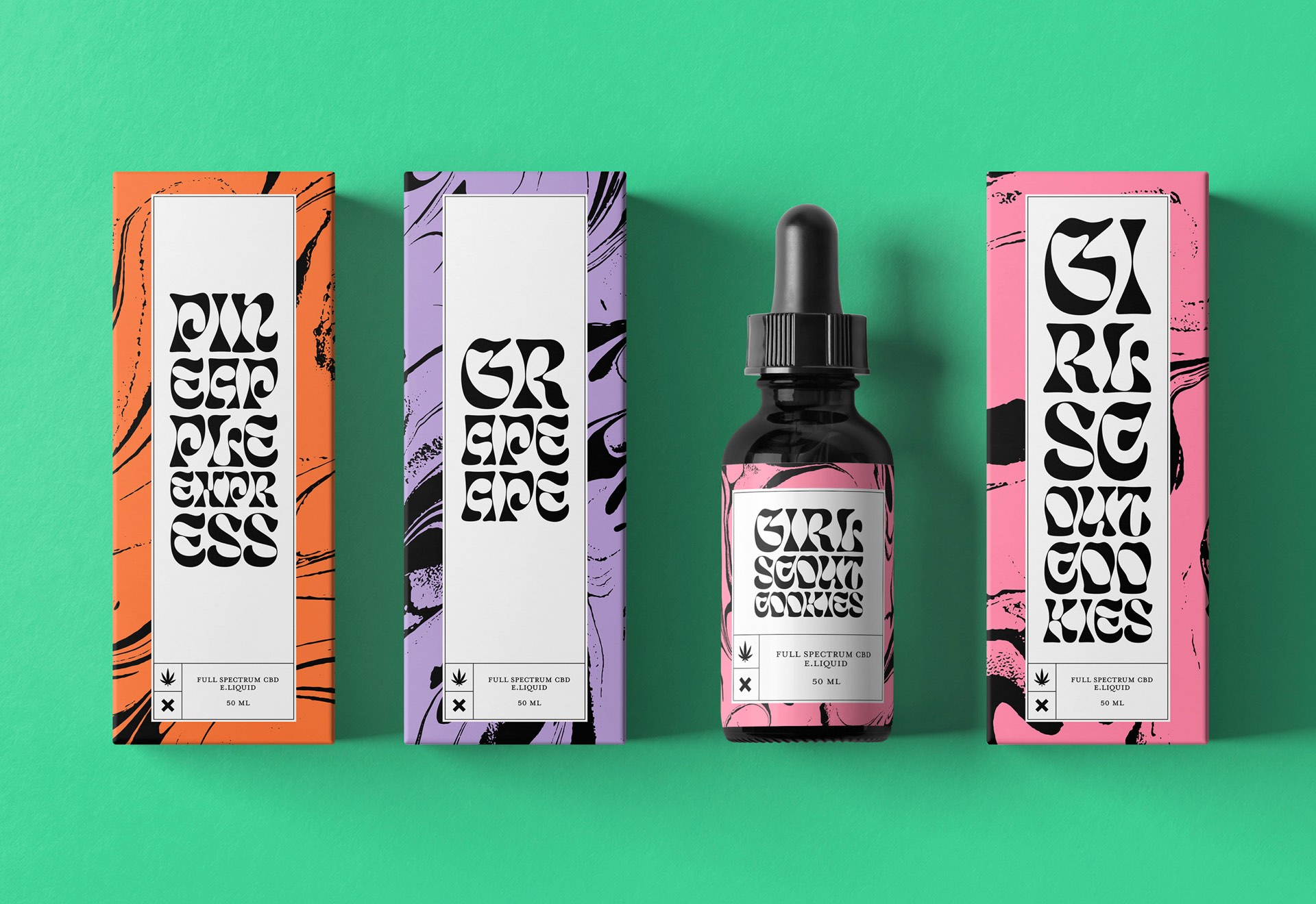 CBD Oil Products Branding