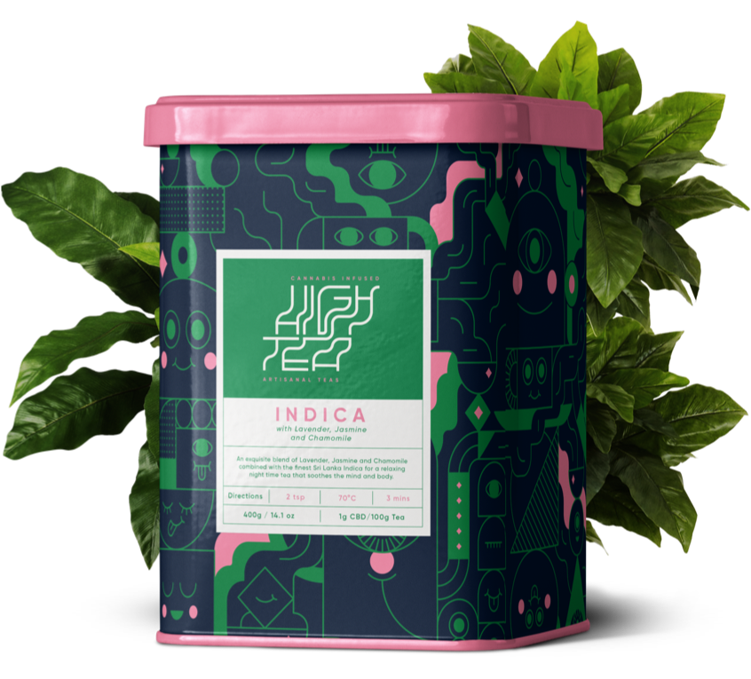 Cannabis Infused Artisan Teas Branding Box