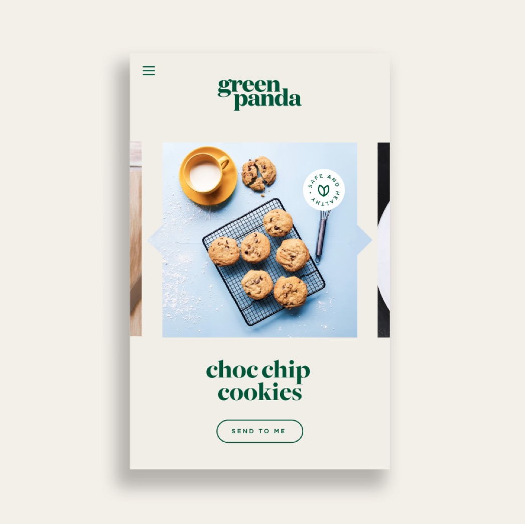 Green Panda Edibles Mobile Site