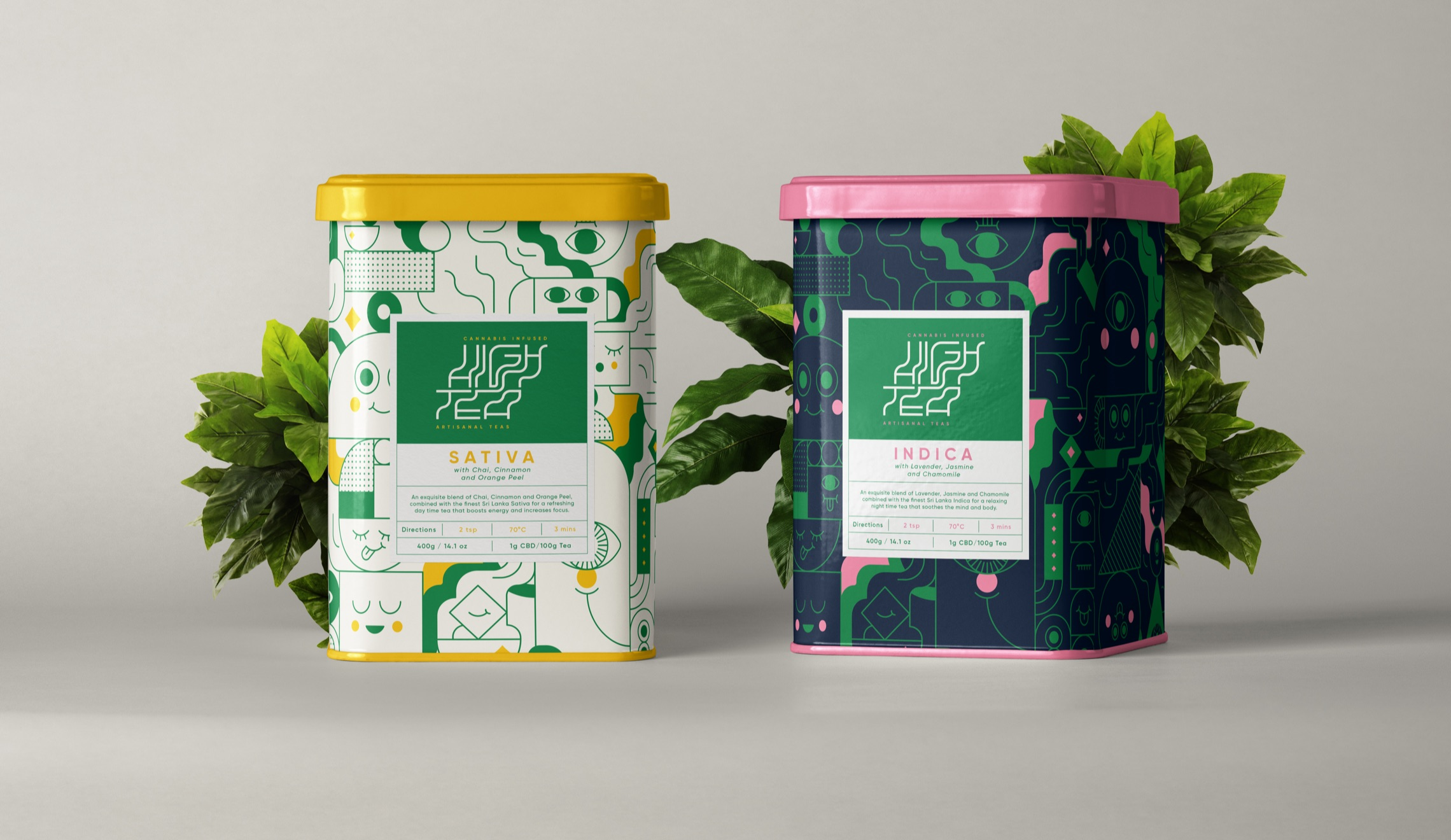 High Tea Cannabis Tea Packaging