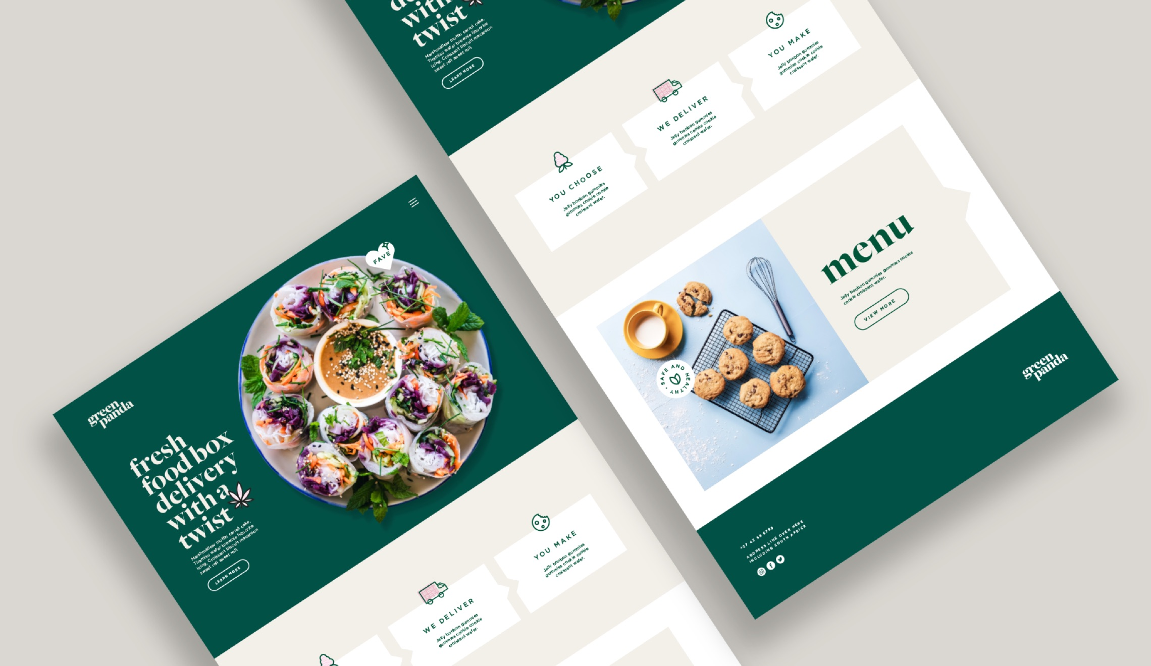 Green Panda Edibles Delivery Website Mockup