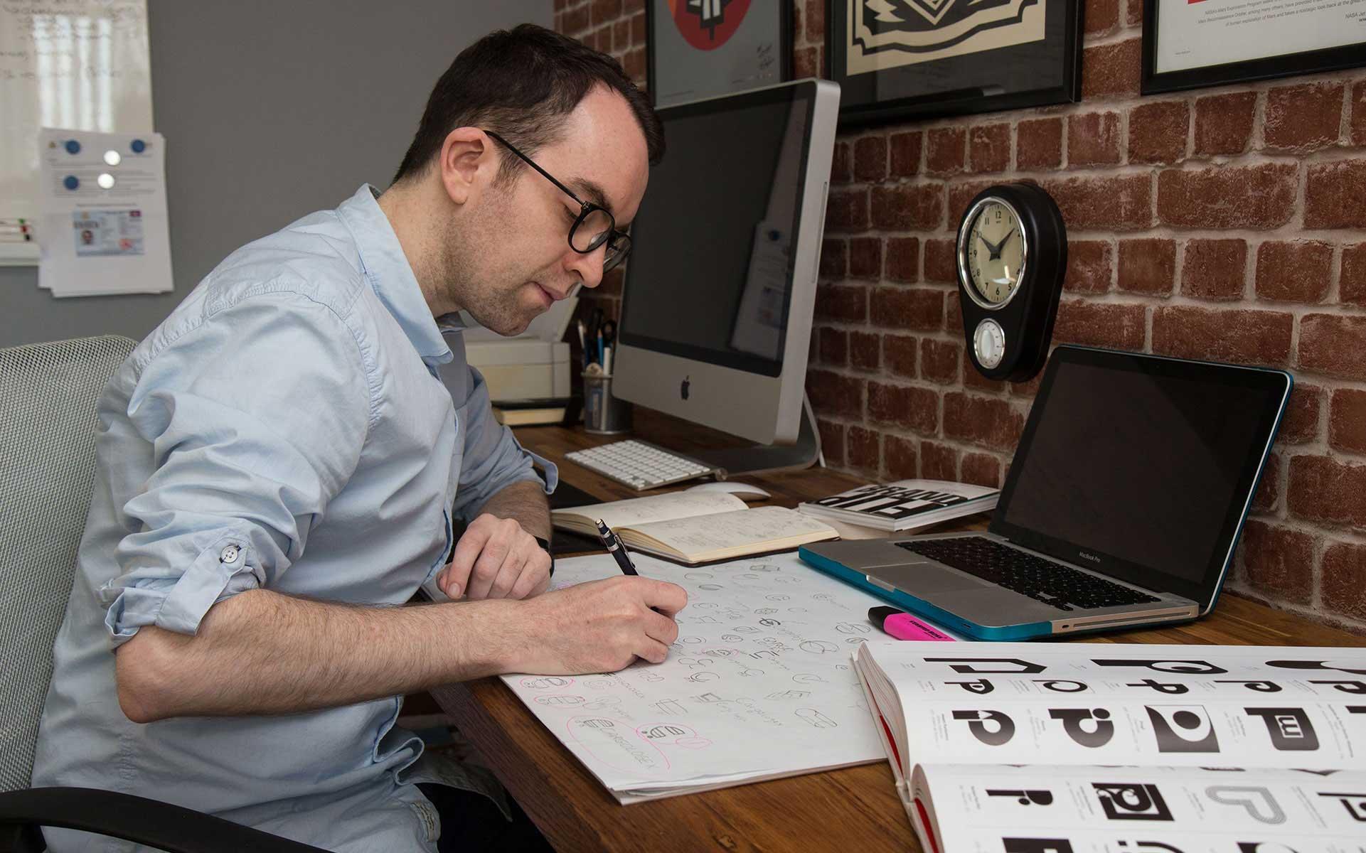 Brainstorming identity design ideas
