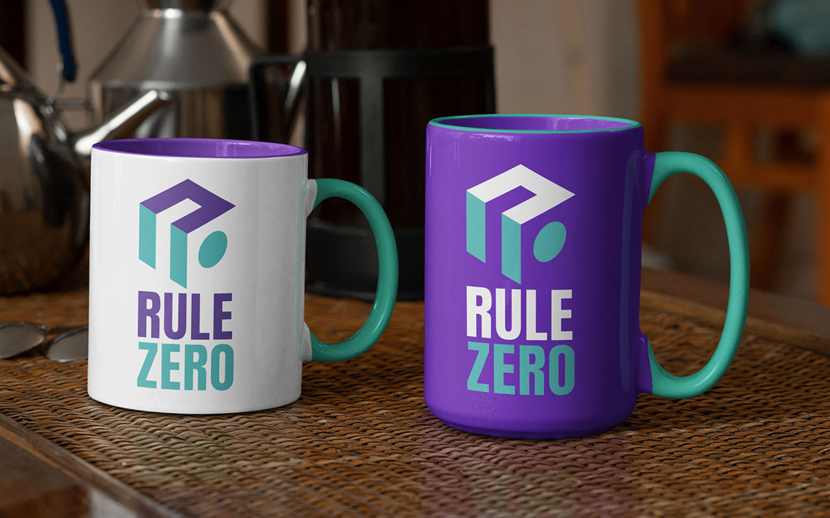 Rule Zero Logo on Mugs