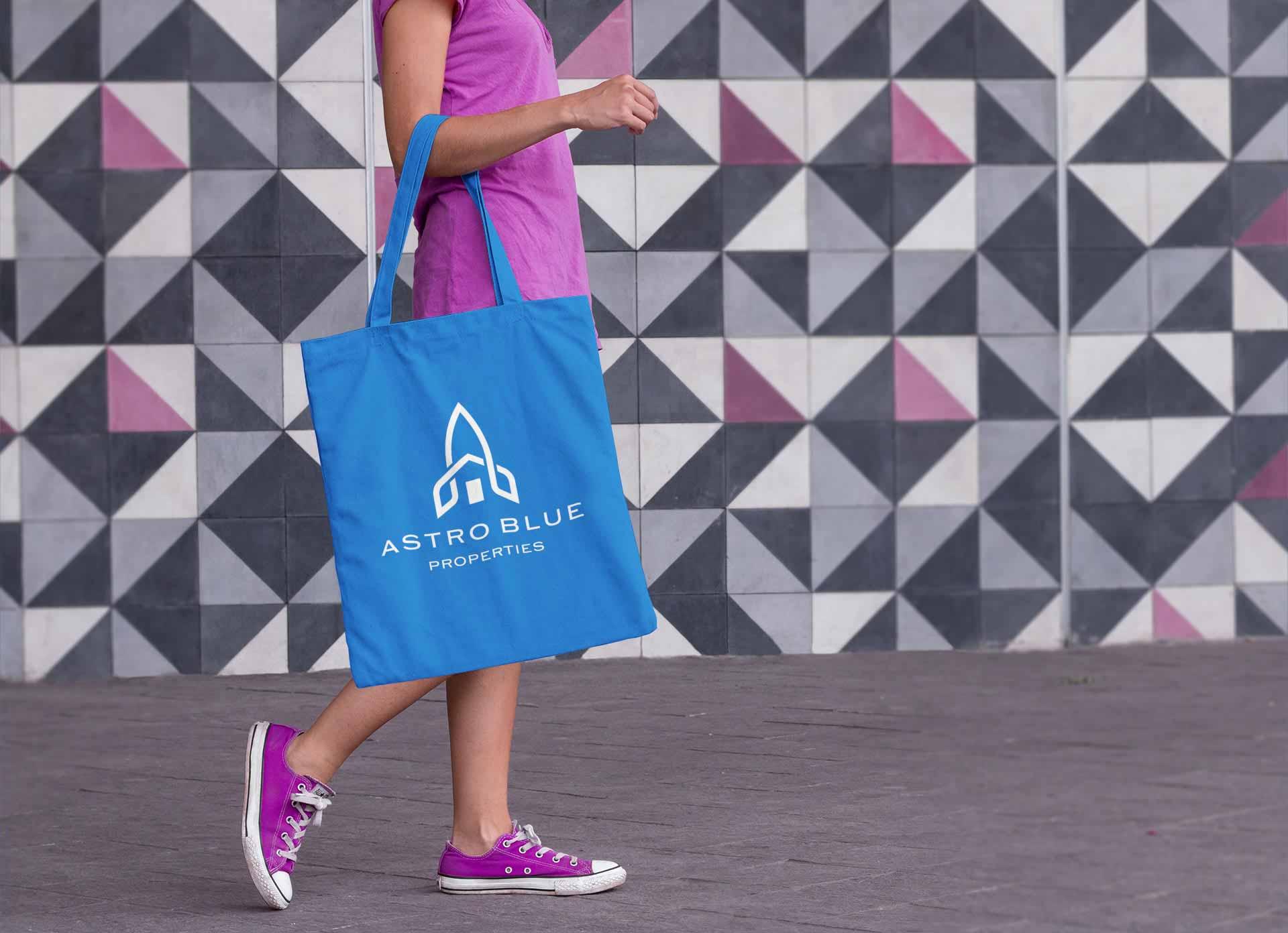 Astro Blue Estate Agent logo on Tote Bag