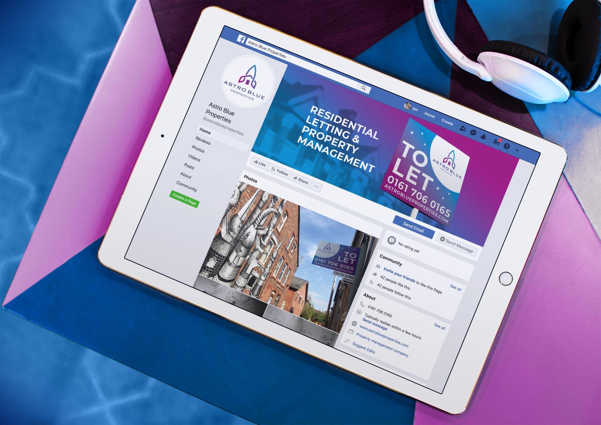 Astro Blue Properties - Facebook Page Designs