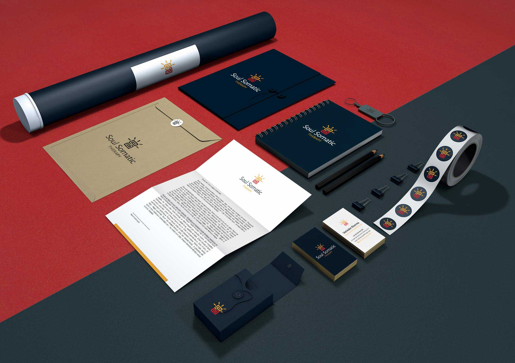 Soul Somatic Stationery Design