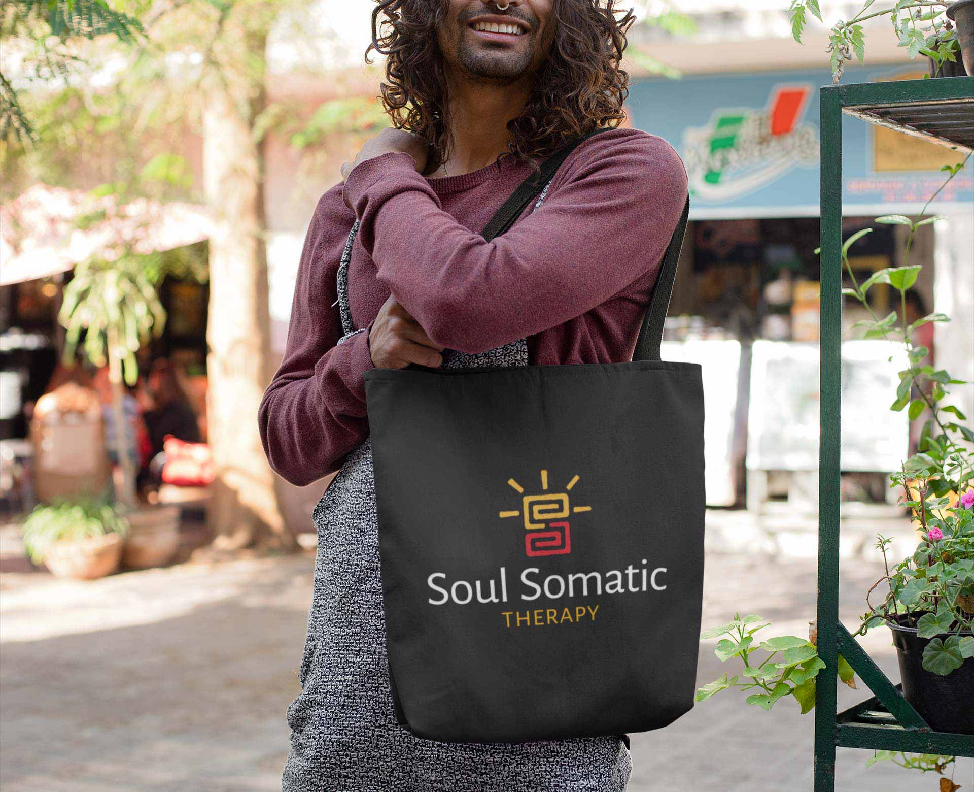 Soul Somatic logo on tote bag