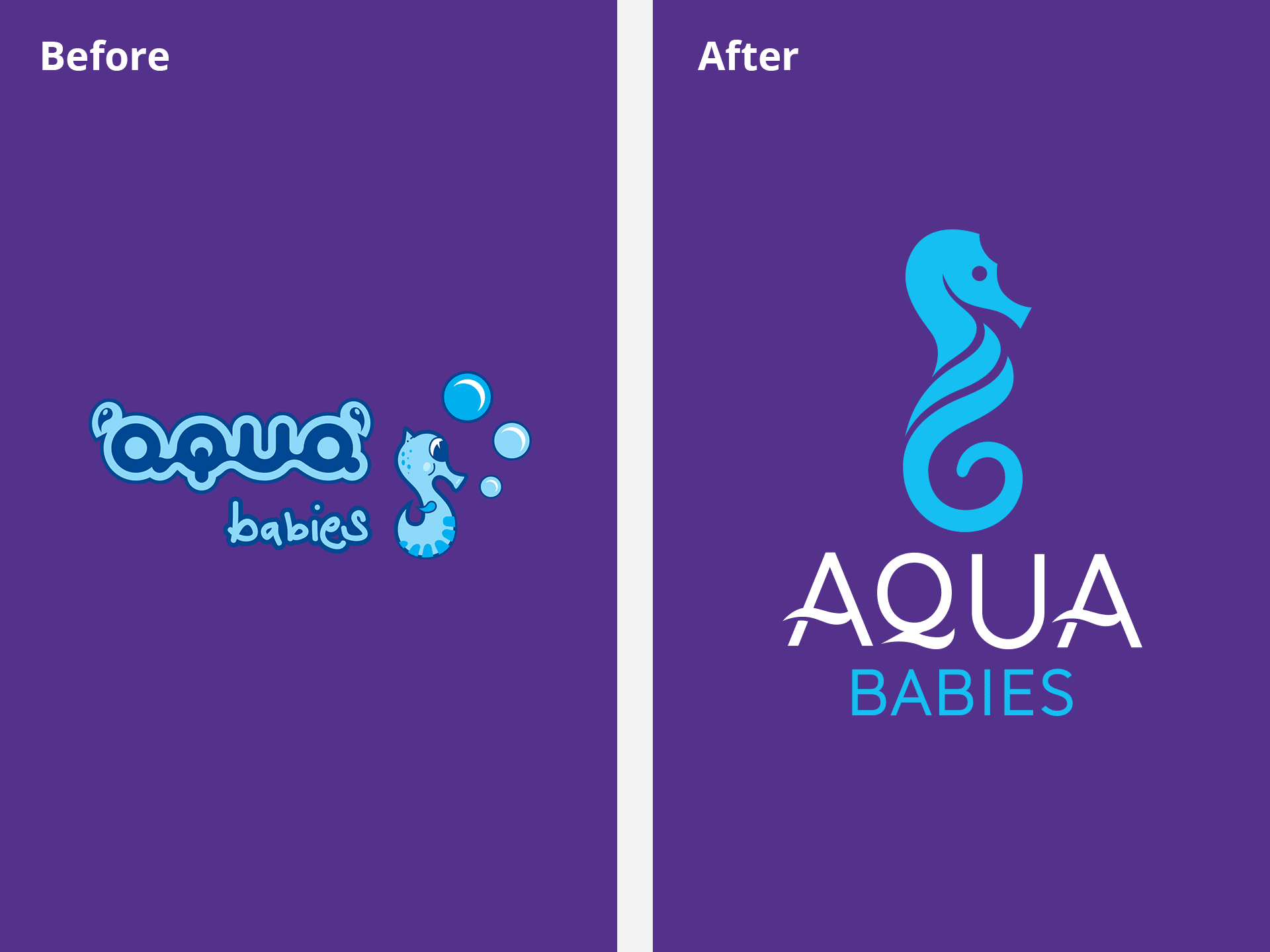 Aqua Babies Logo Before and After
