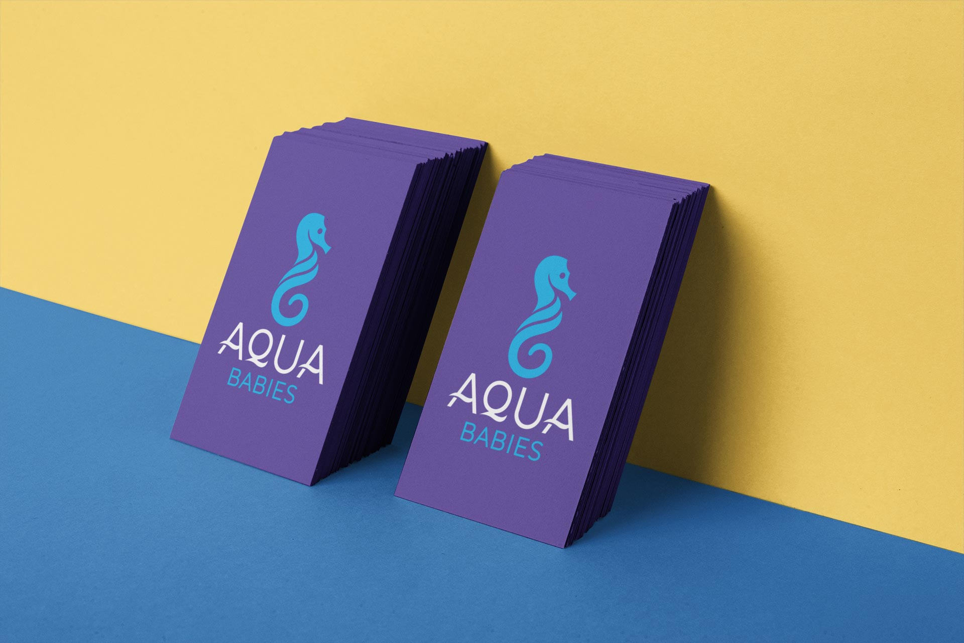 Aqua Babies Business Card Design