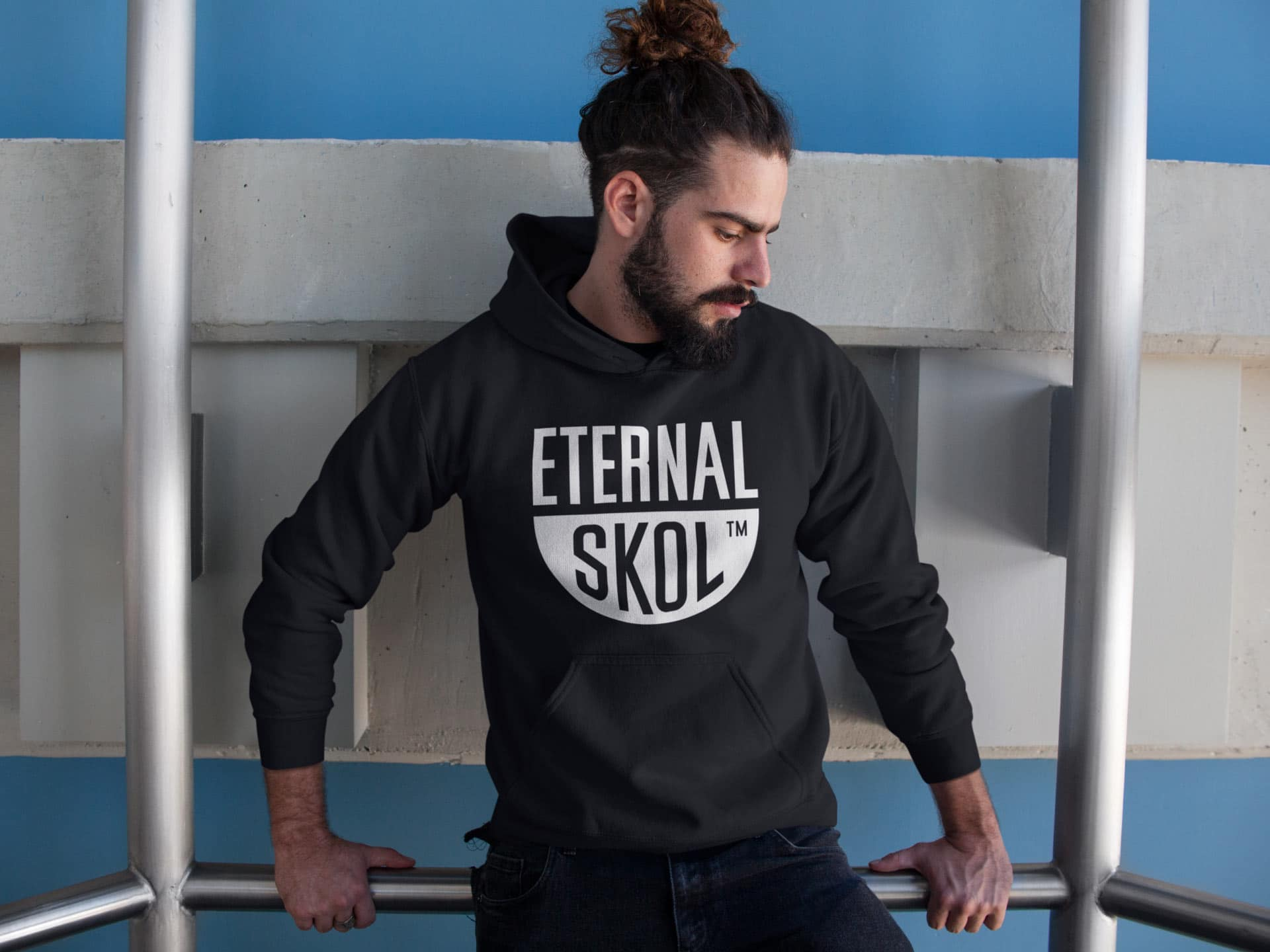 Eternal Skol Logo Design on Hoodie