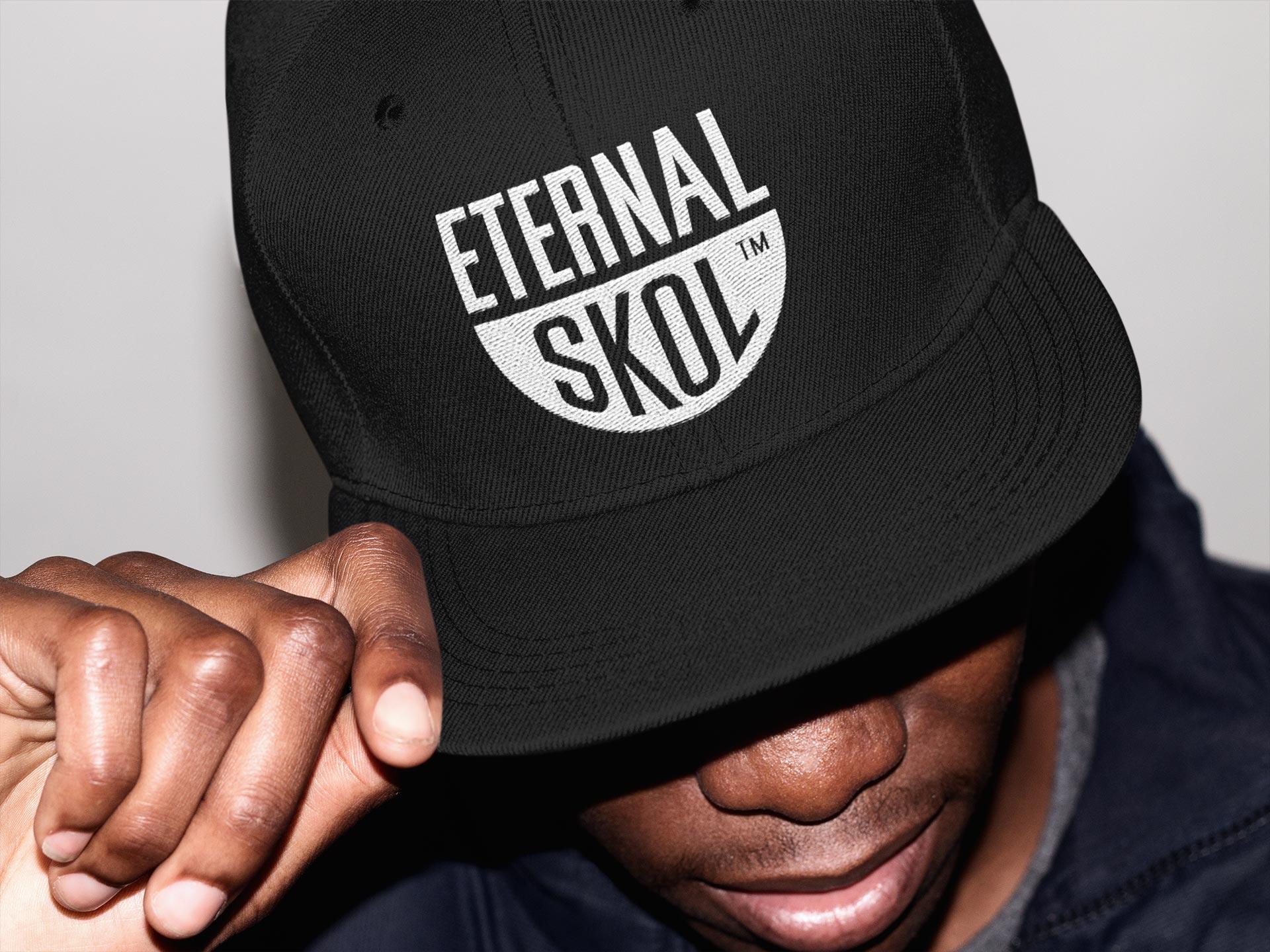 Eternal Skol brand identity used on cap