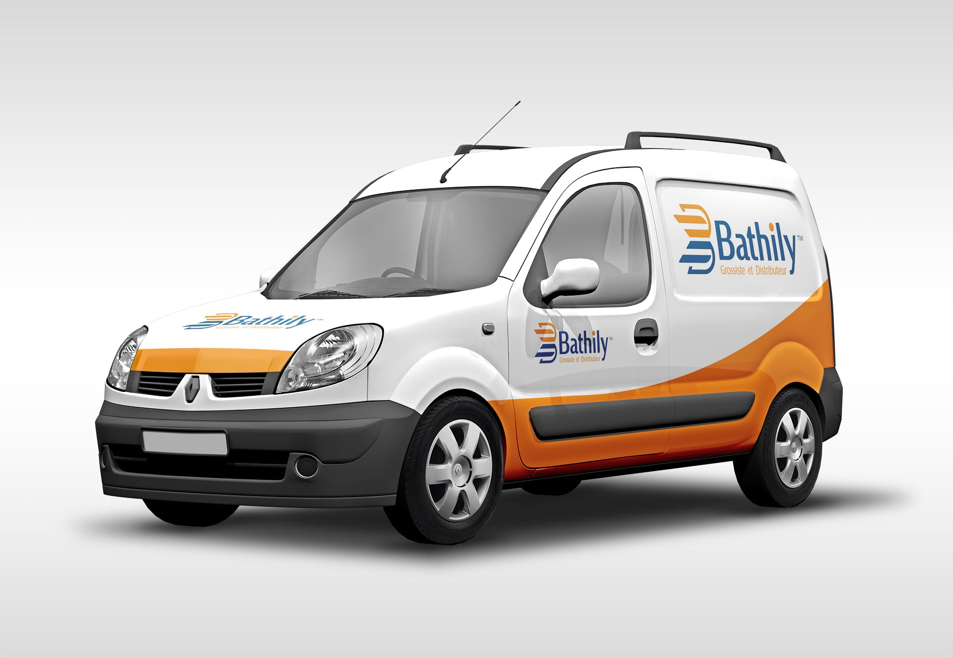 Bathily branding shown on a vehicle