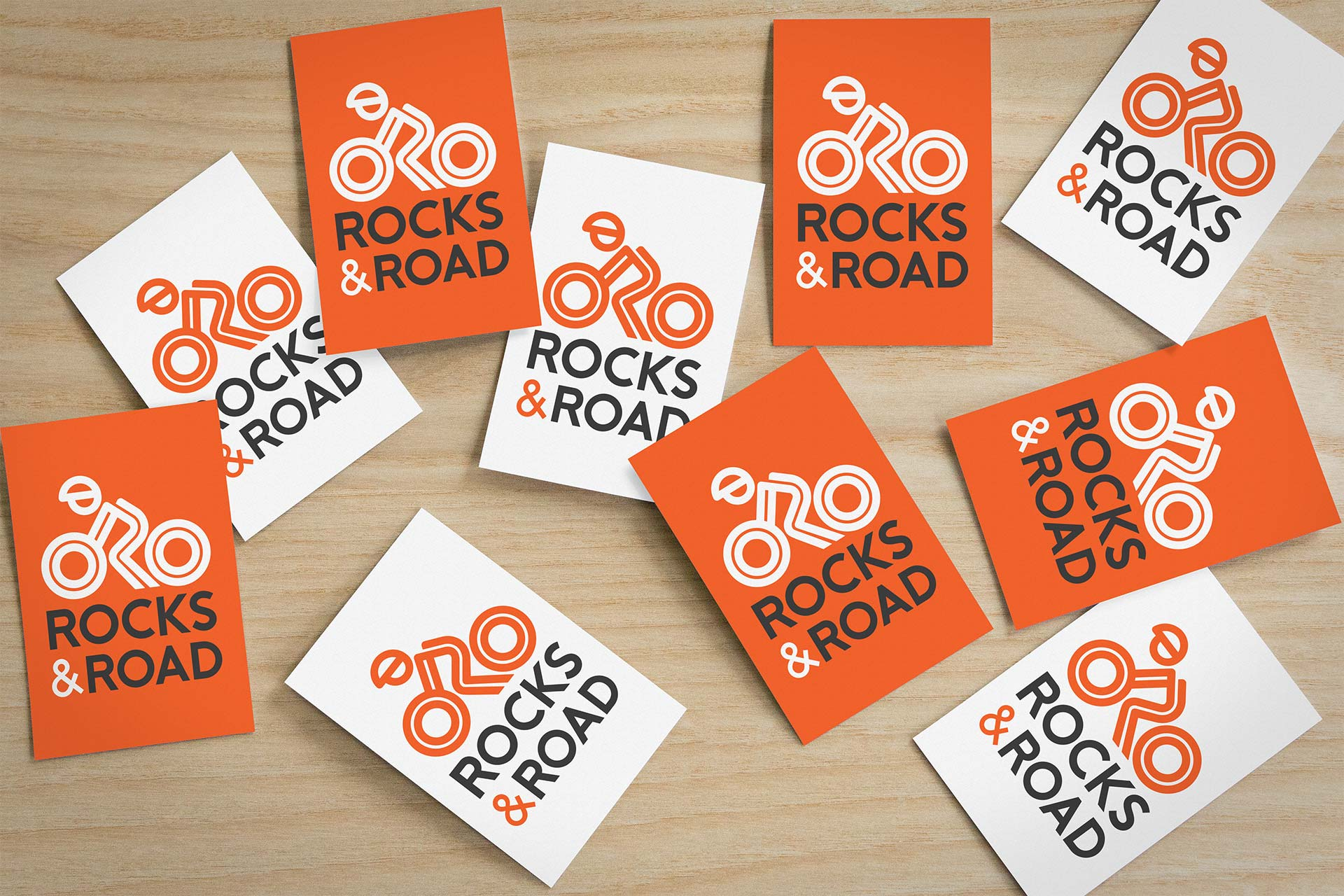Business Card Design for Rocks and Road