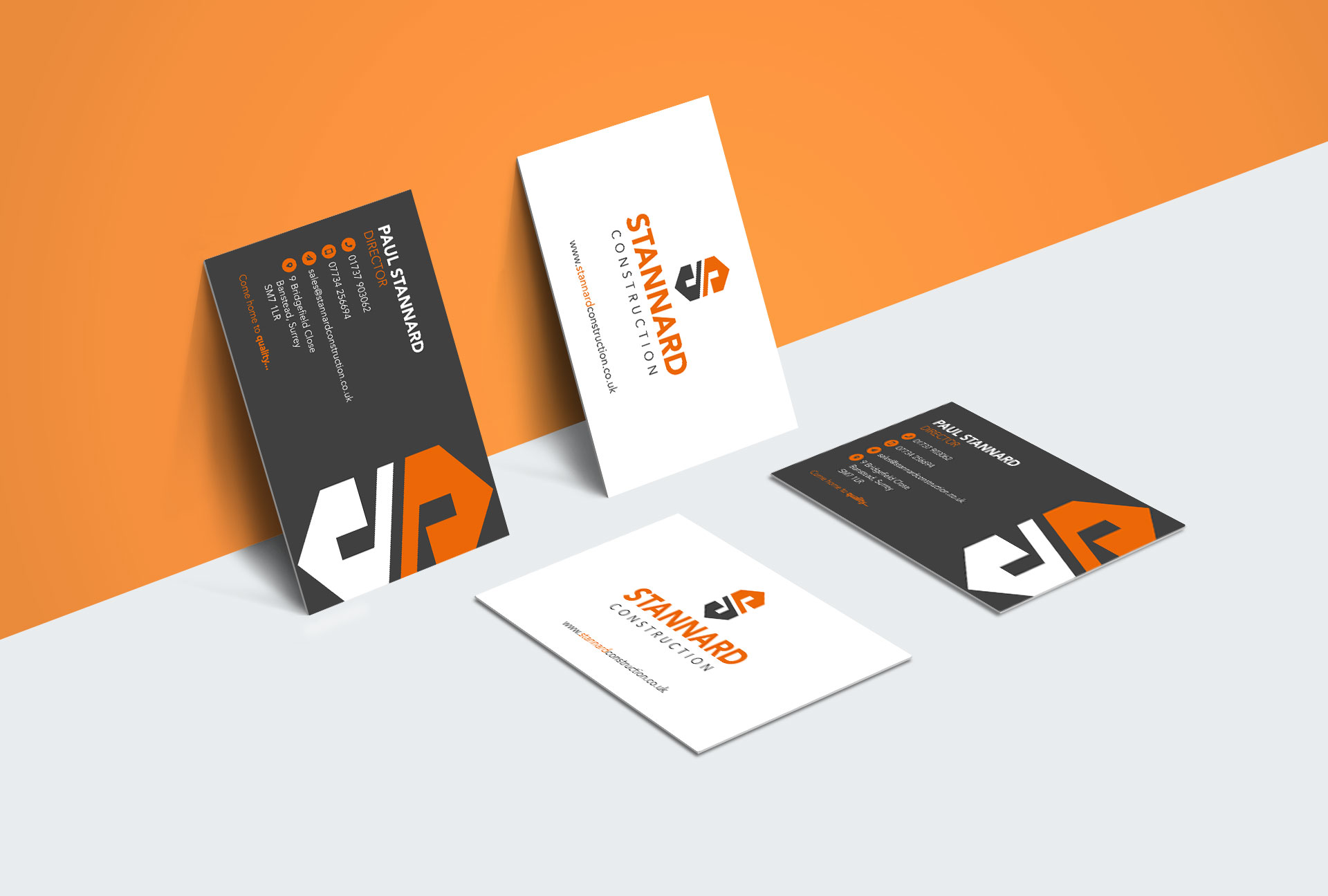 Stannard Construction Logo Design - Shown on a Business Card