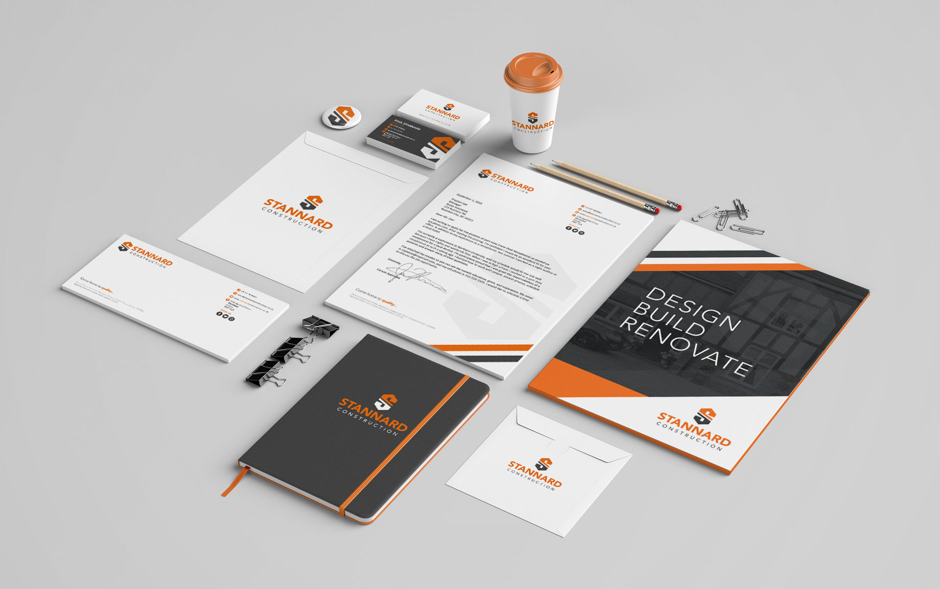 Stannard Construction Stationery Design