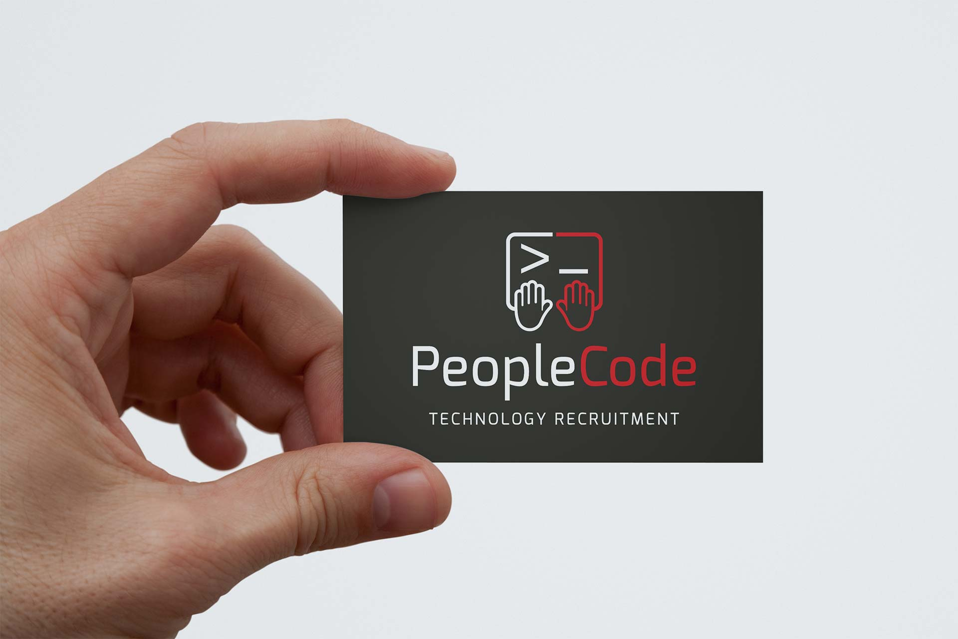 People Code Logo on Business Card